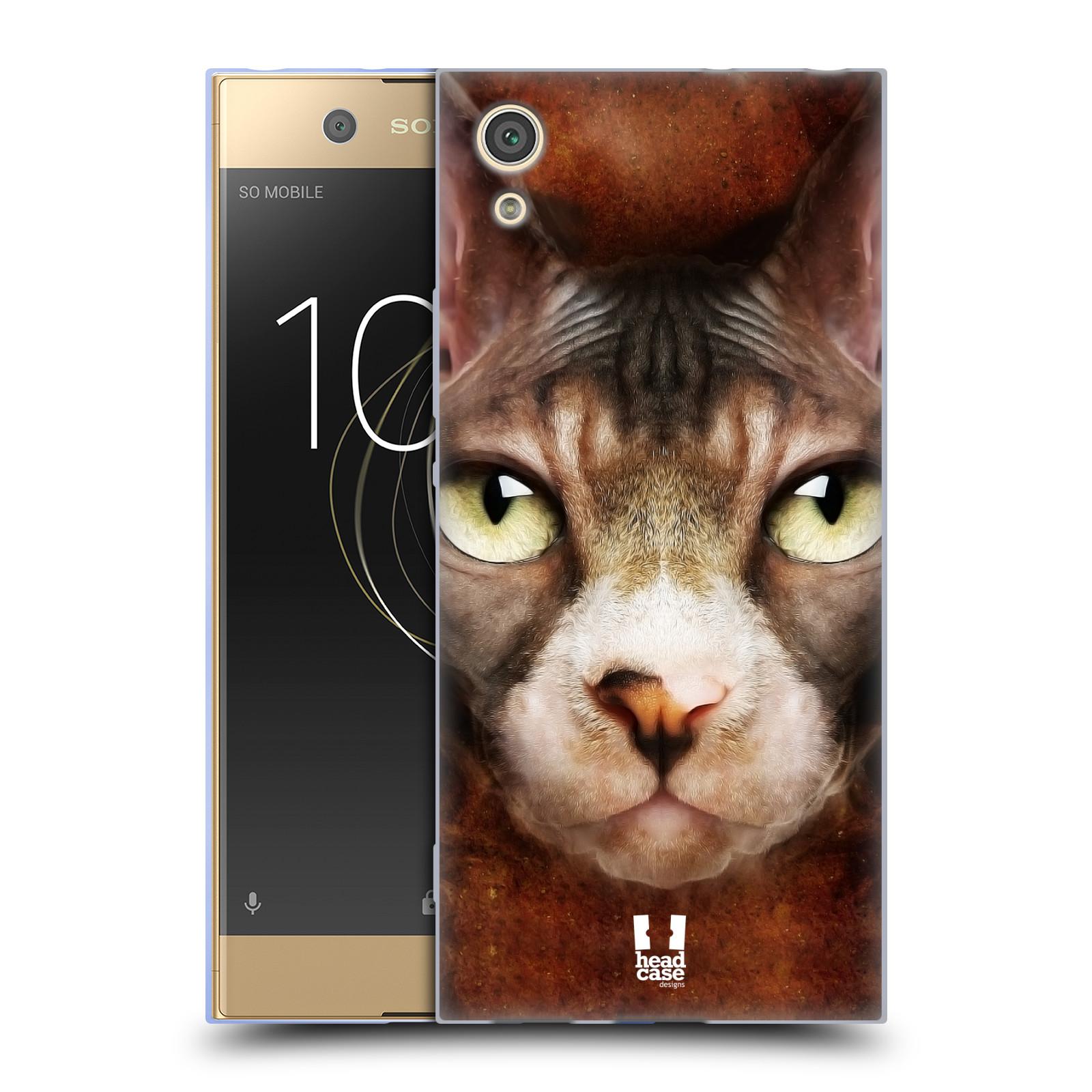 HEAD CASE silikonový obal na mobil Sony Xperia XA1 / XA1 DUAL SIM vzor Zvířecí tváře kočka sphynx