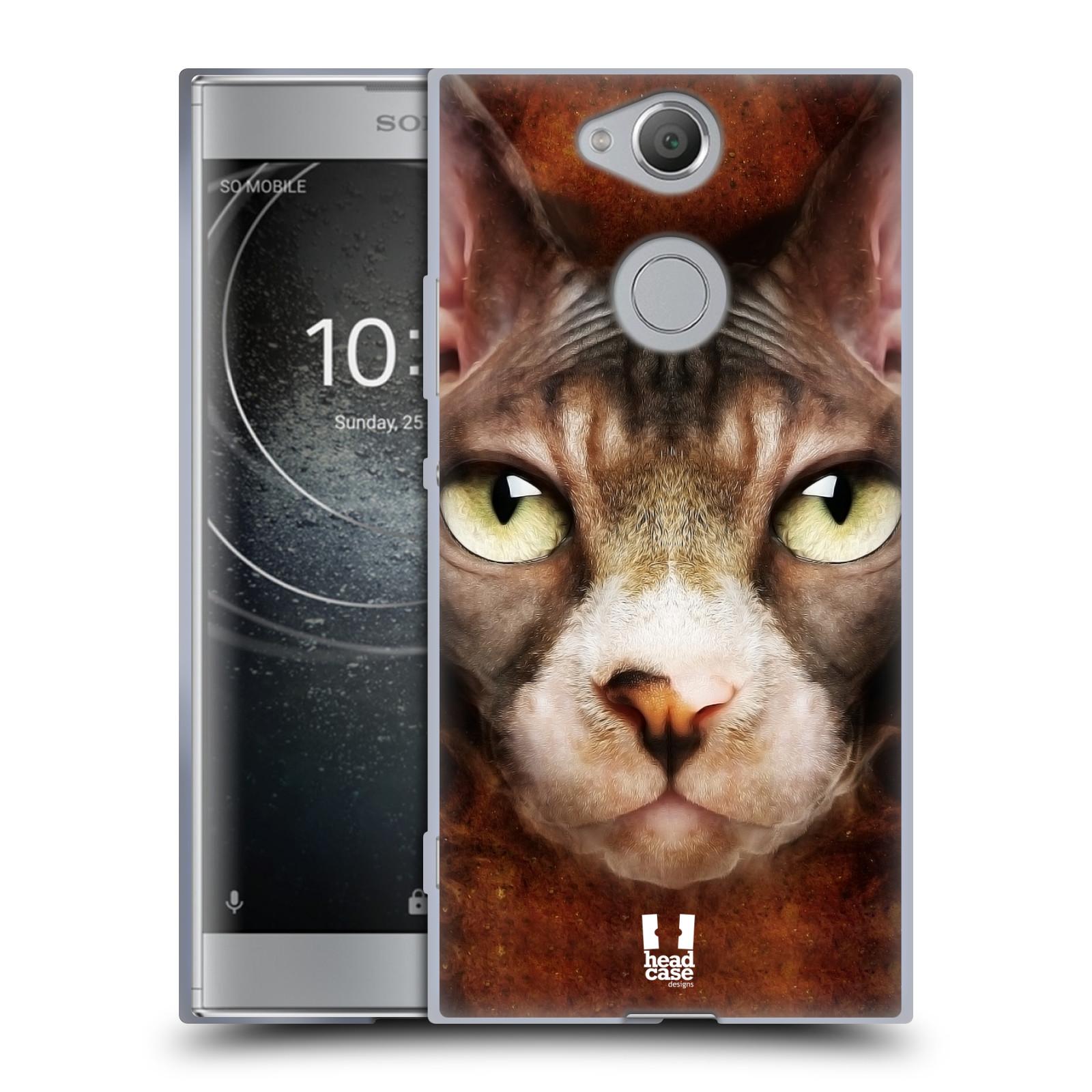 Pouzdro na mobil Sony Xperia XA2 (DUAL SIM, SINGLE SIM) vzor Zvířecí tváře kočka sphynx