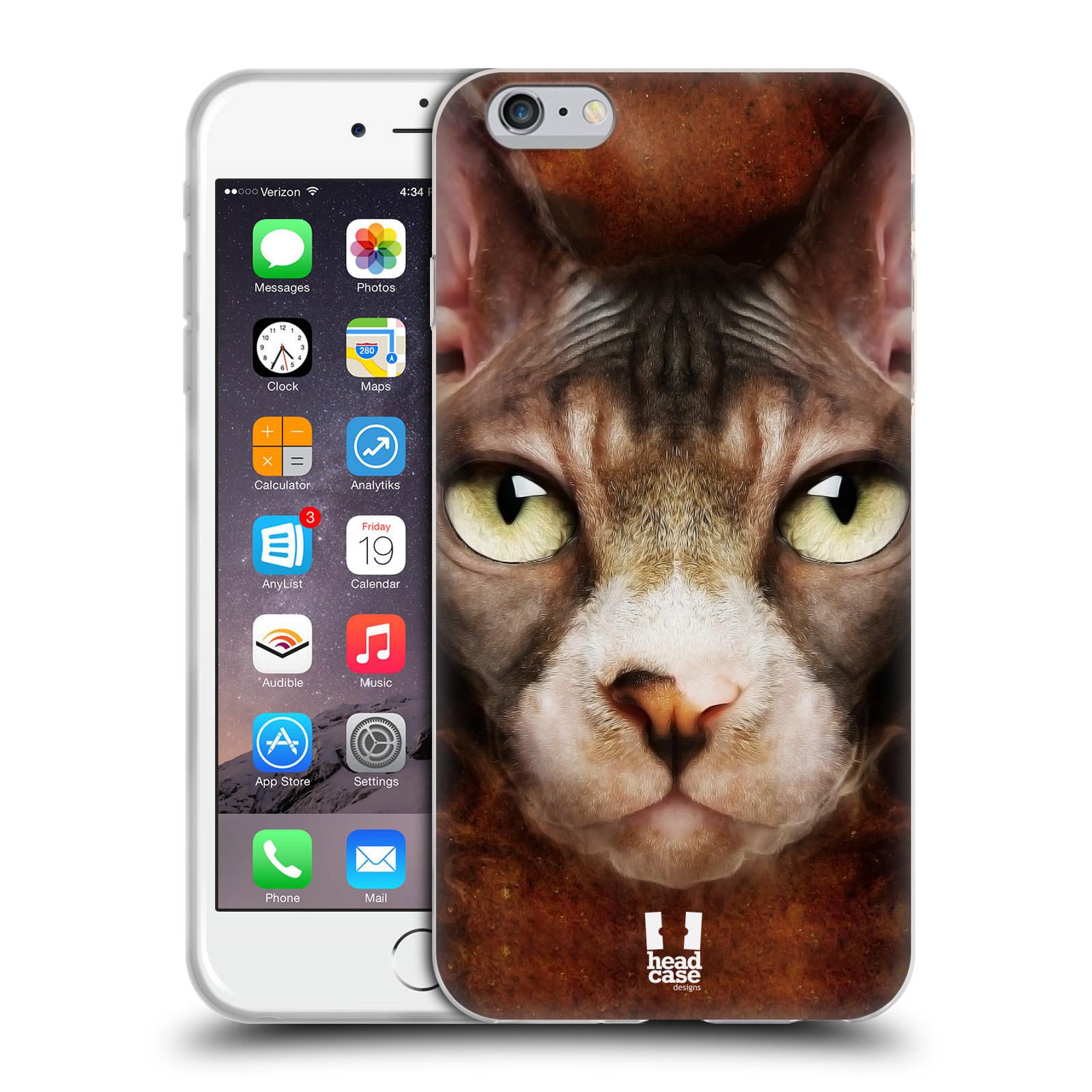 HEAD CASE silikonový obal na mobil Apple Iphone 6 PLUS/ 6S PLUS vzor Zvířecí tváře kočka sphynx
