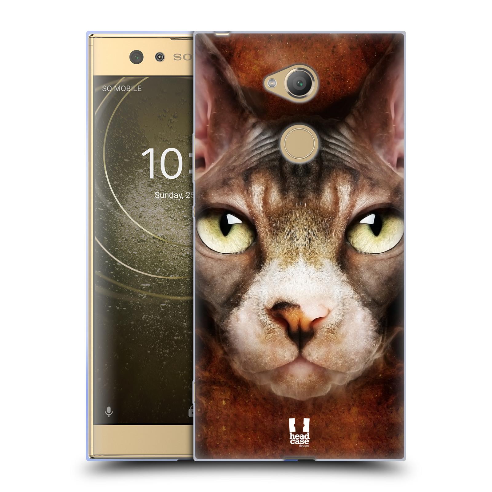 Pouzdro na mobil Sony Xperia XA2 Ultra vzor Zvířecí tváře kočka sphynx