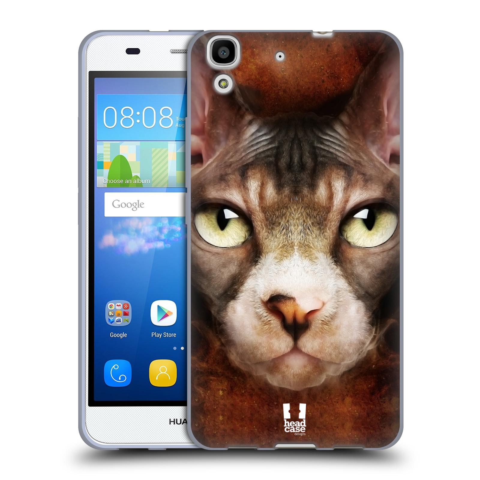 HEAD CASE silikonový obal na mobil HUAWEI Y6 vzor Zvířecí tváře kočka sphynx
