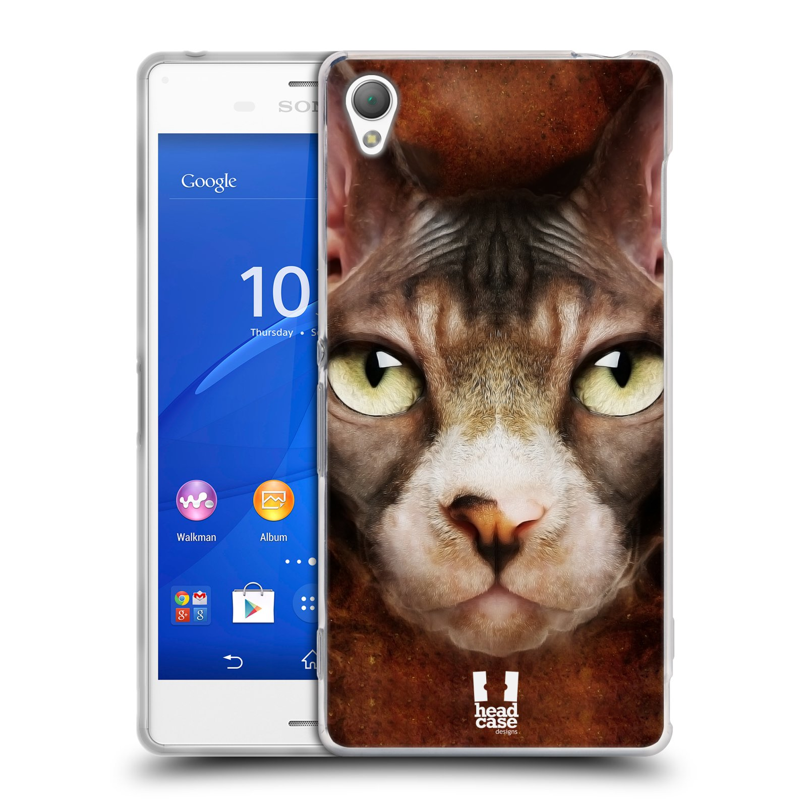 HEAD CASE silikonový obal na mobil Sony Xperia Z3 vzor Zvířecí tváře kočka sphynx