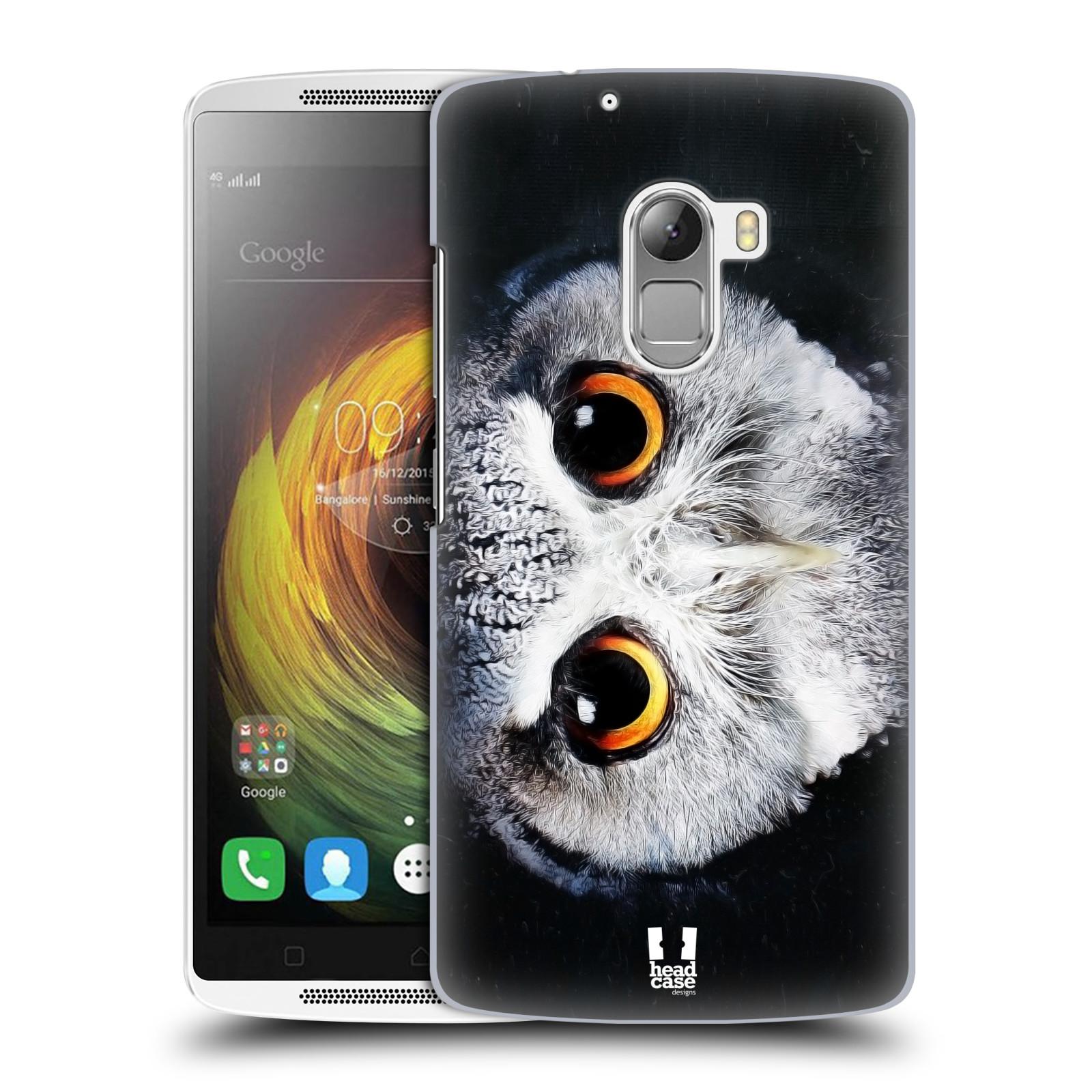 HEAD CASE pevný plastový obal na mobil LENOVO A7010 / A7010 DUAL / K4 Note / Vibe X3 lite vzor Zvířecí tváře sova