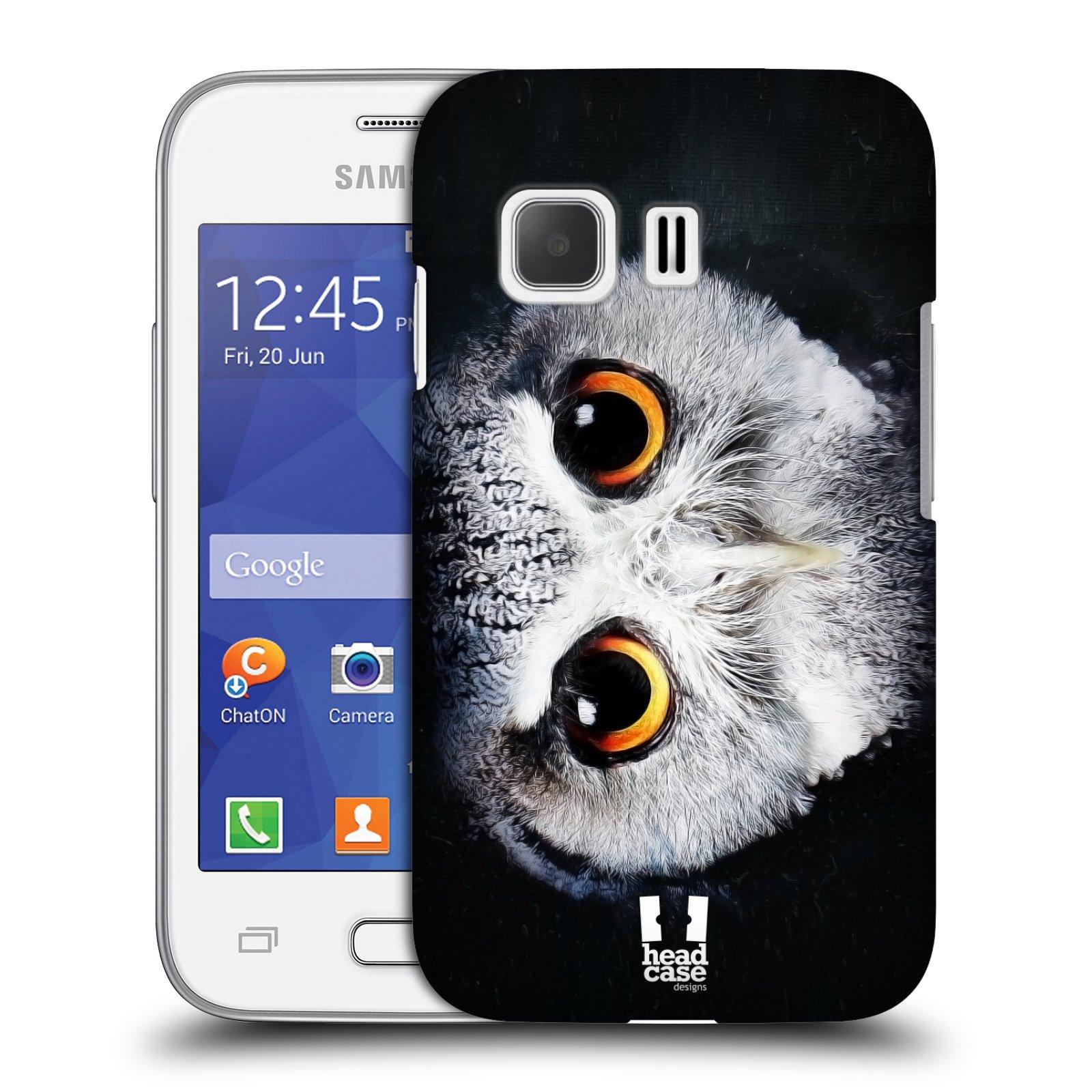 HEAD CASE plastový obal na mobil SAMSUNG Galaxy Young 2 (G130) vzor Zvířecí tváře sova