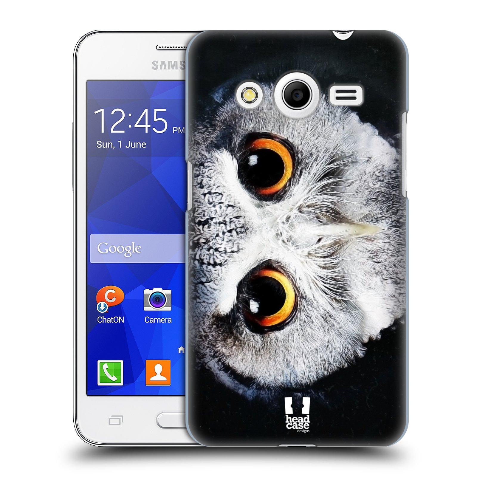HEAD CASE plastový obal na mobil SAMSUNG GALAXY Core 2 (G355H) vzor Zvířecí tváře sova