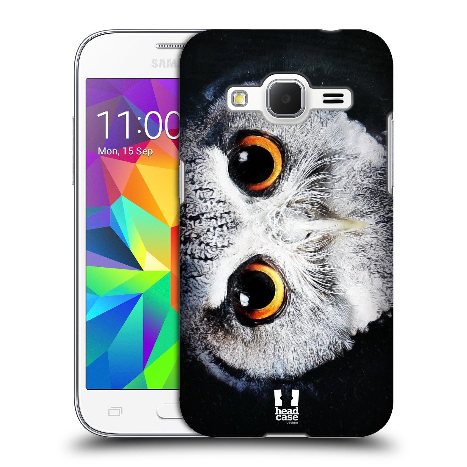 HEAD CASE plastový obal na mobil SAMSUNG GALAXY Core Prime (Core Prime VE) vzor Zvířecí tváře sova
