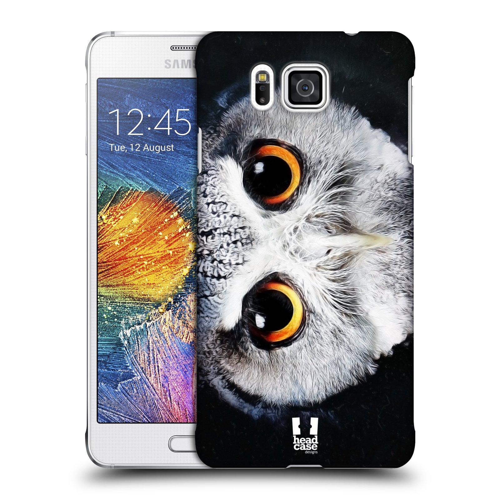 HEAD CASE plastový obal na mobil SAMSUNG Galaxy Alpha (G850) vzor Zvířecí tváře sova