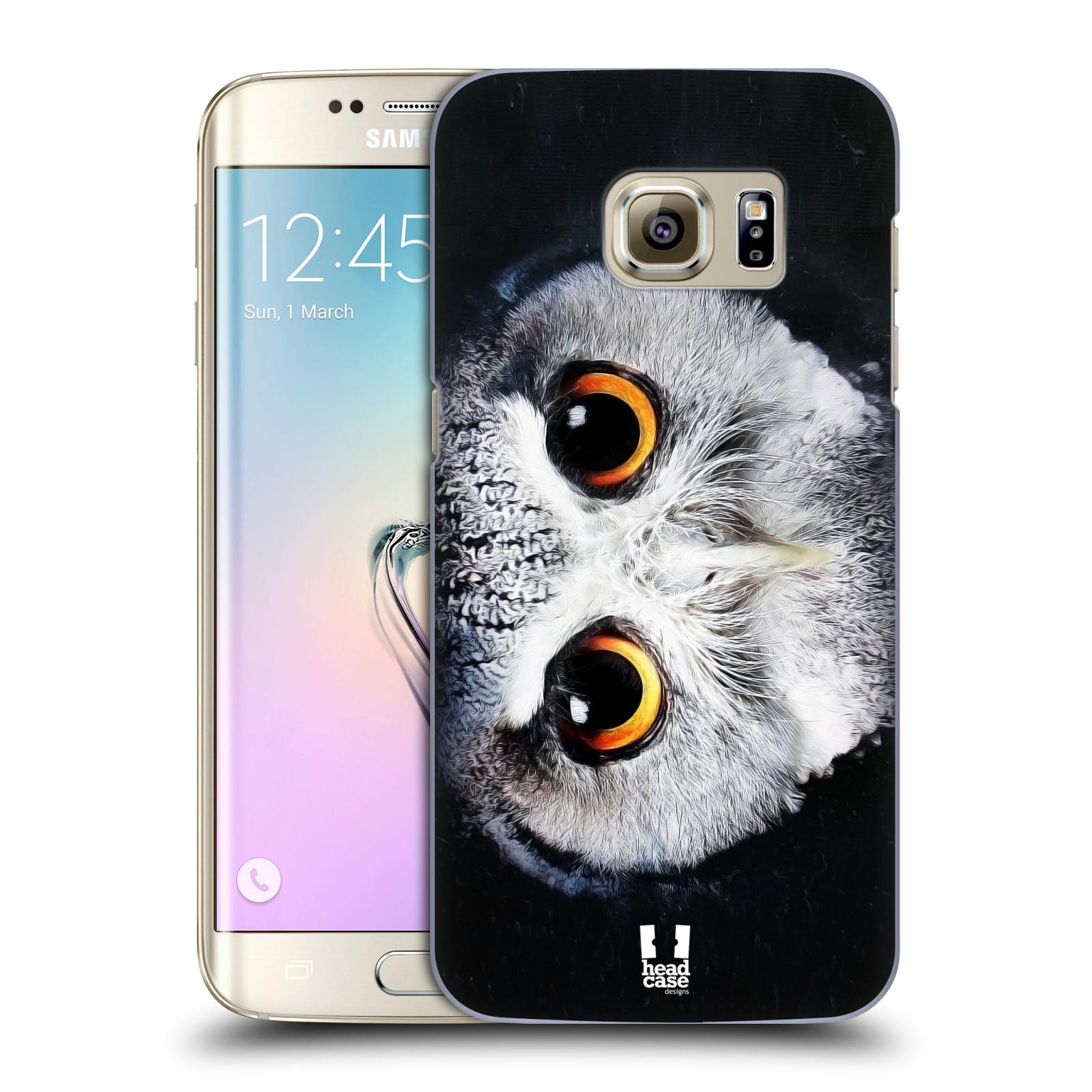HEAD CASE plastový obal na mobil SAMSUNG GALAXY S7 EDGE vzor Zvířecí tváře sova