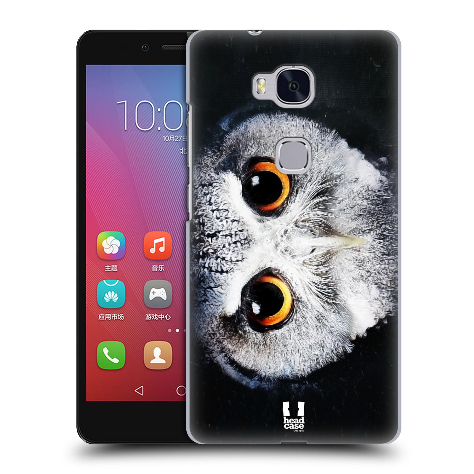 HEAD CASE pevný plastový obal na mobil HUAWEI HONOR 5X vzor Zvířecí tváře sova