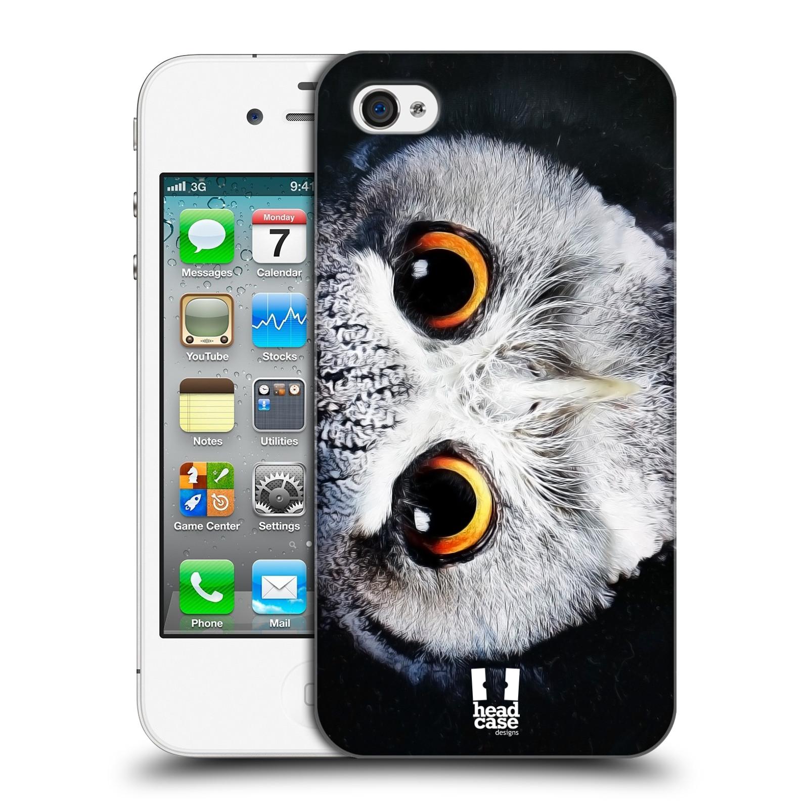 HEAD CASE plastový obal na mobil Apple Iphone 4/4S vzor Zvířecí tváře sova