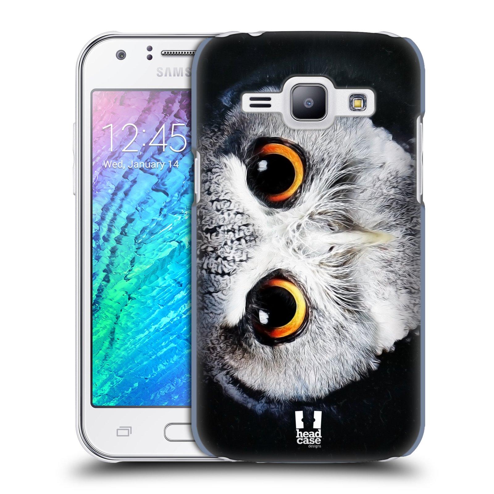 HEAD CASE plastový obal na mobil SAMSUNG Galaxy J1, J100 vzor Zvířecí tváře sova