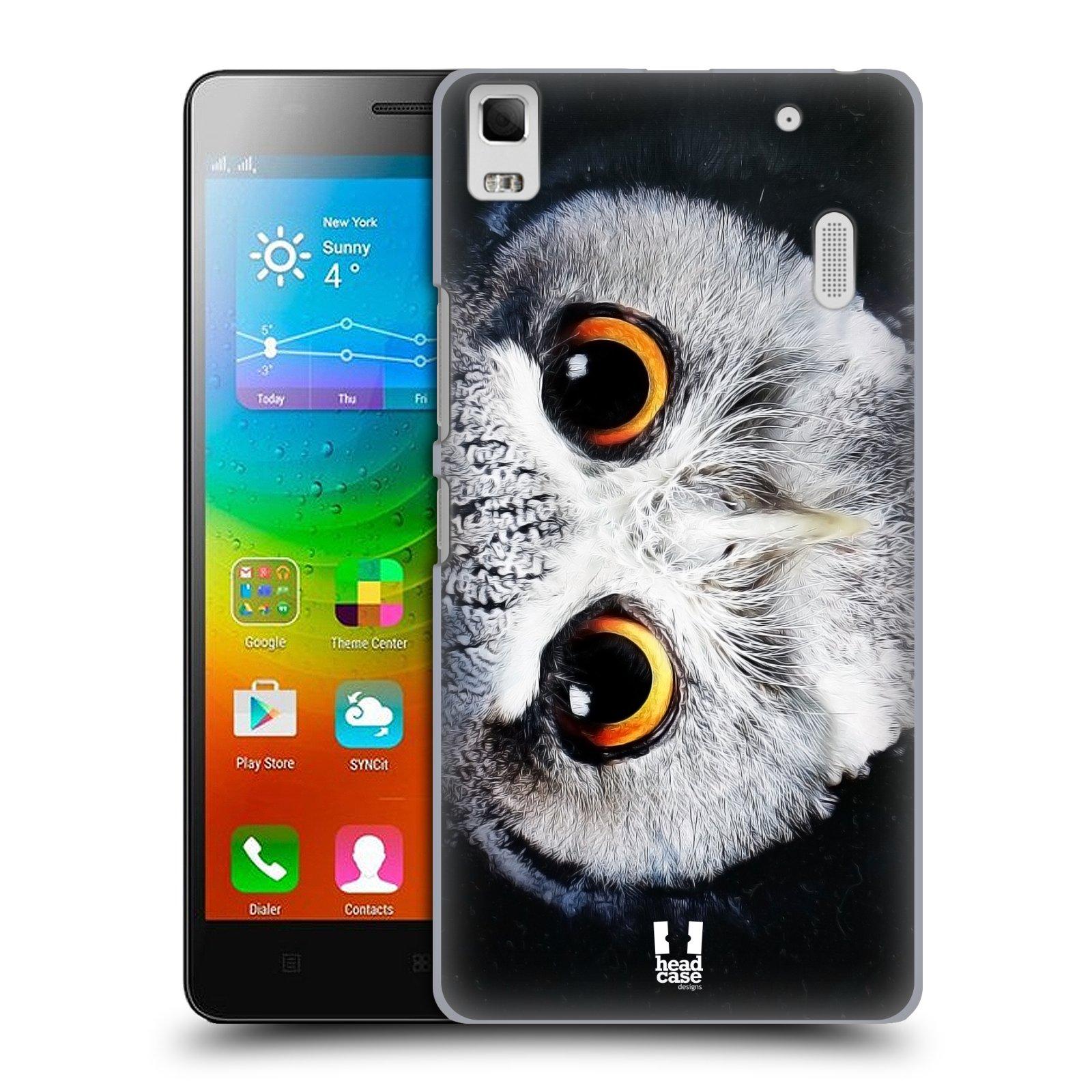 HEAD CASE pevný plastový obal na mobil LENOVO A7000 / A7000 DUAL / K3 NOTE vzor Zvířecí tváře sova