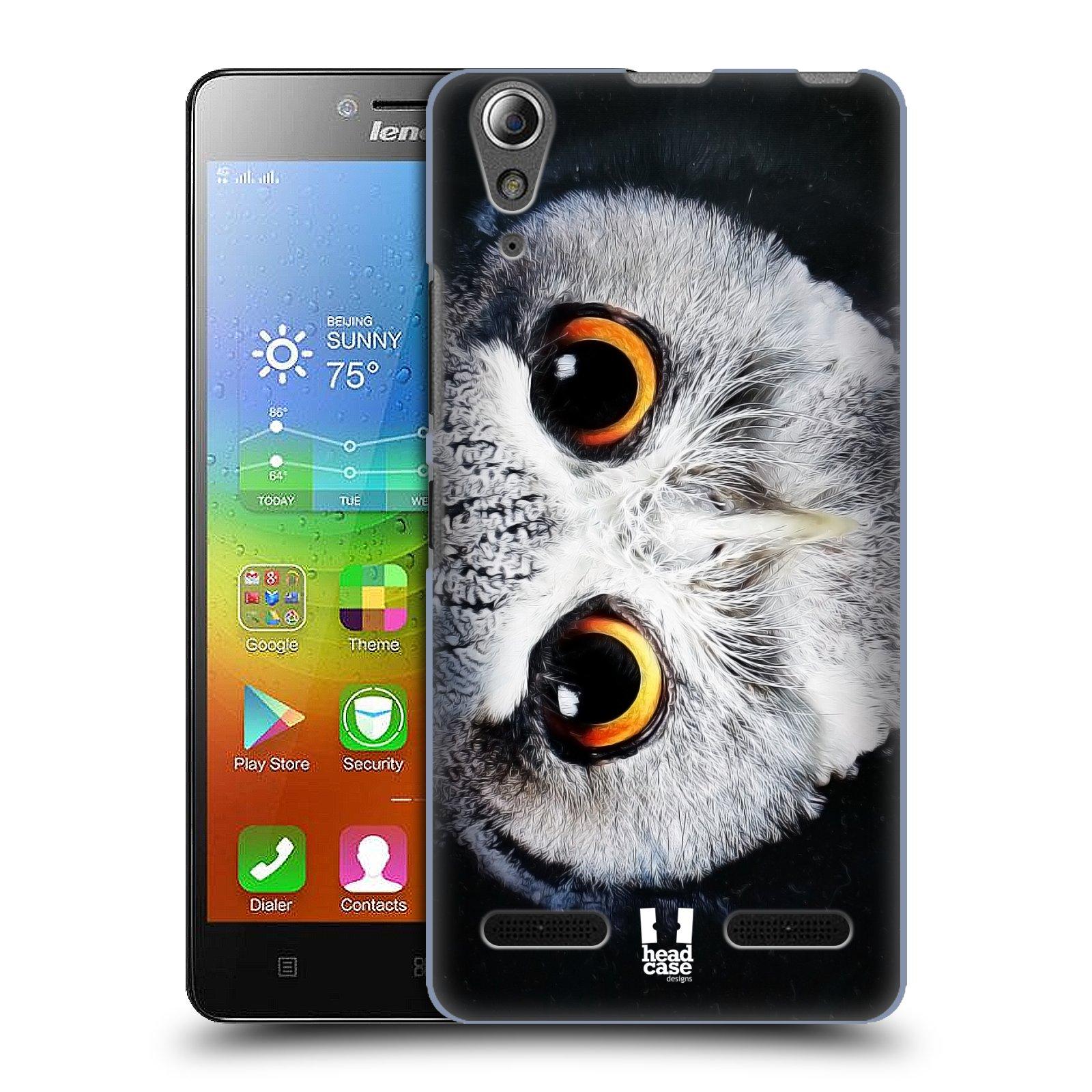 HEAD CASE pevný plastový obal na mobil LENOVO A6000 / A6000 PLUS vzor Zvířecí tváře sova