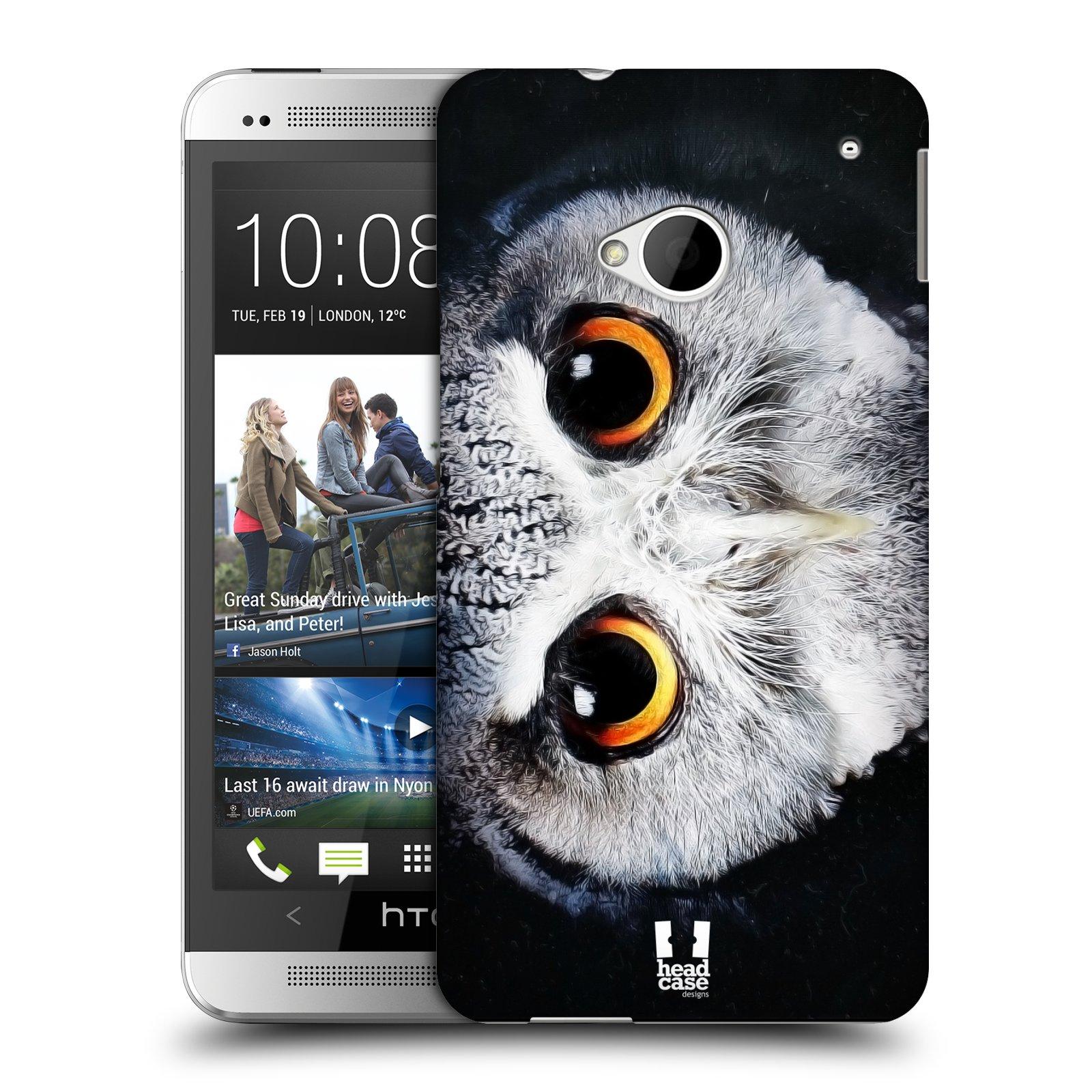 HEAD CASE plastový obal na mobil HTC One (M7) vzor Zvířecí tváře sova