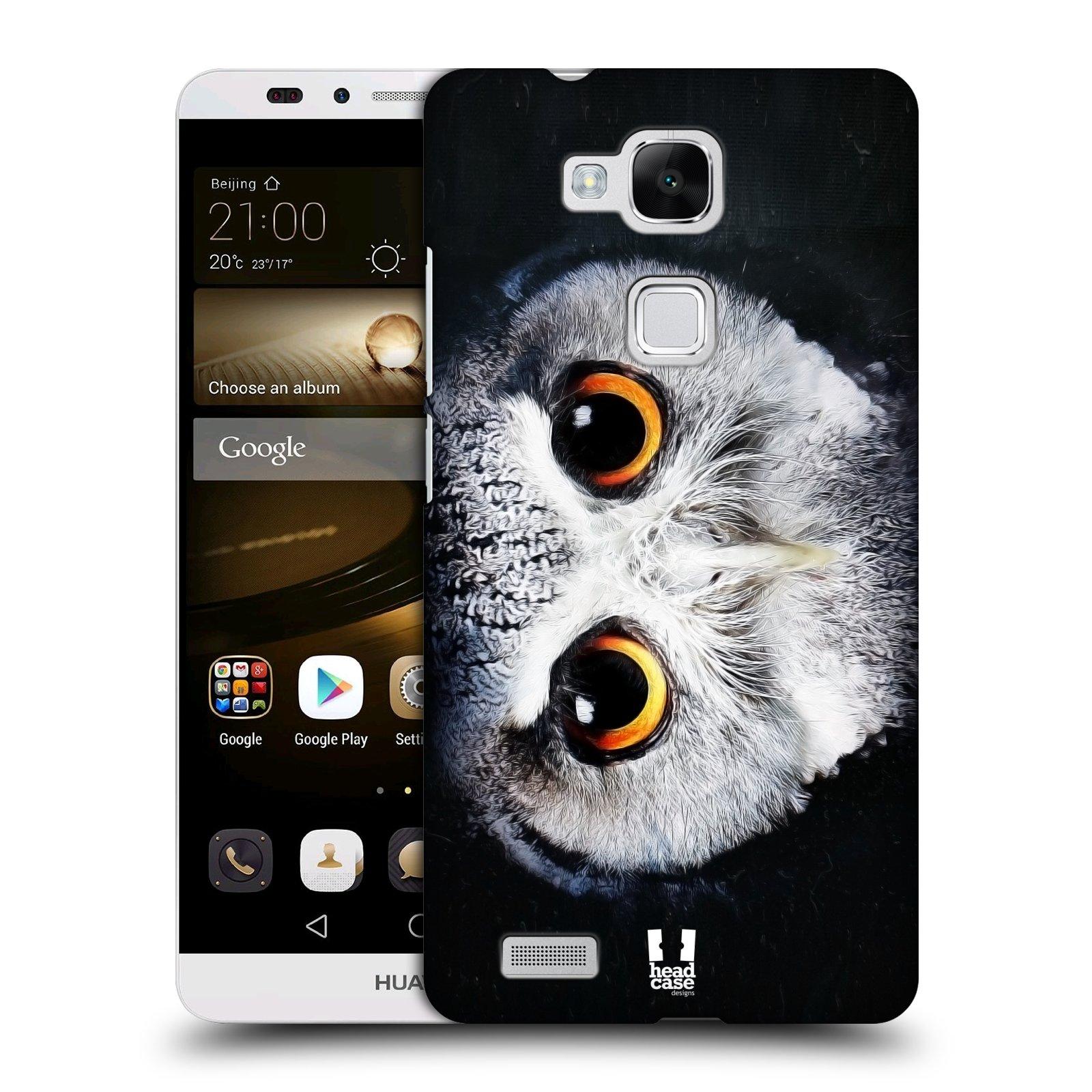 HEAD CASE plastový obal na mobil Huawei Mate 7 vzor Zvířecí tváře sova