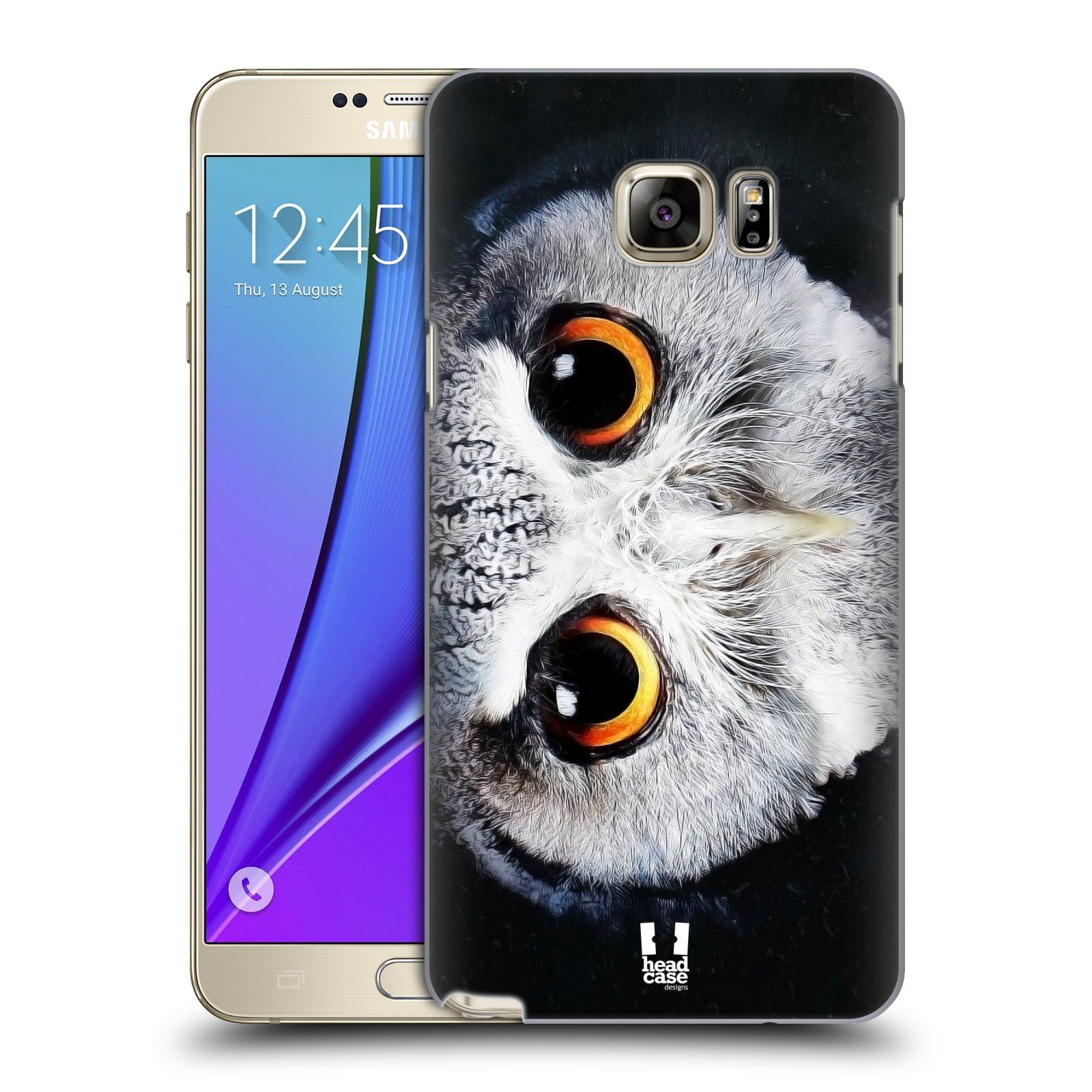 HEAD CASE plastový obal na mobil SAMSUNG Galaxy Note 5 (N920) vzor Zvířecí tváře sova