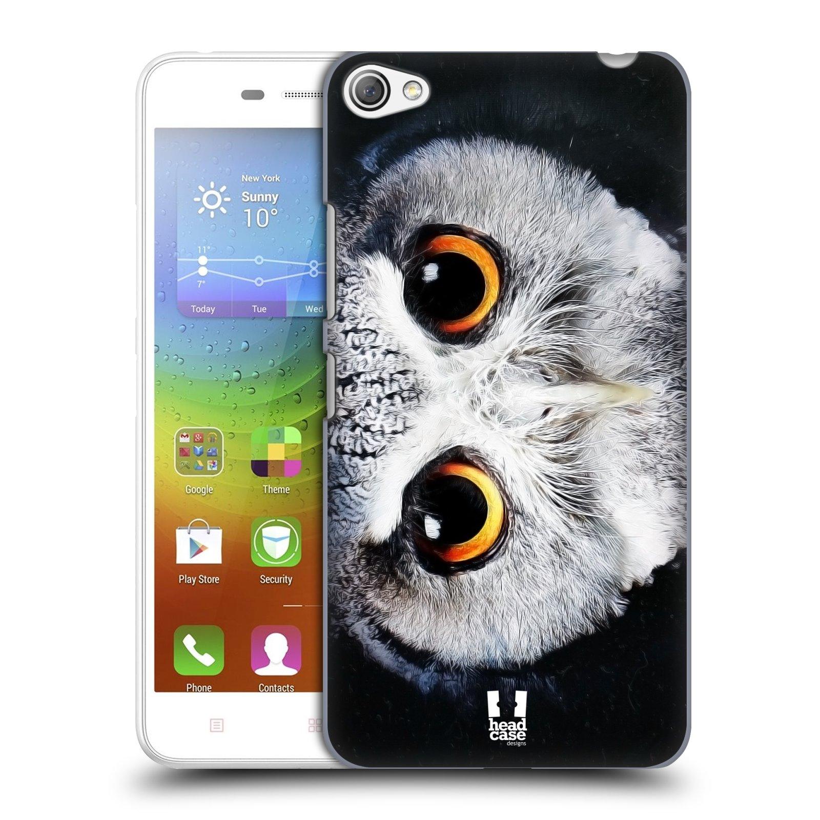 HEAD CASE pevný plastový obal na mobil LENOVO S60 / LENOVO S60 DUAL SIM vzor Zvířecí tváře sova