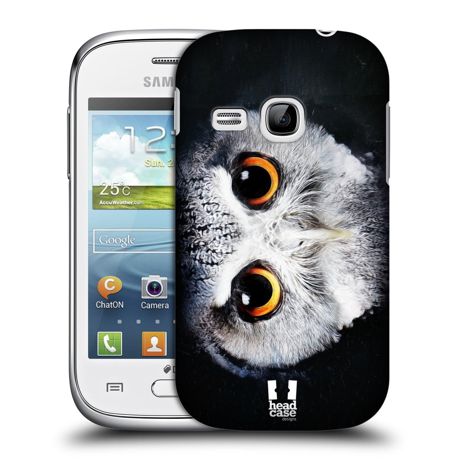 HEAD CASE plastový obal na mobil SAMSUNG Galaxy Young S6310 vzor Zvířecí tváře sova