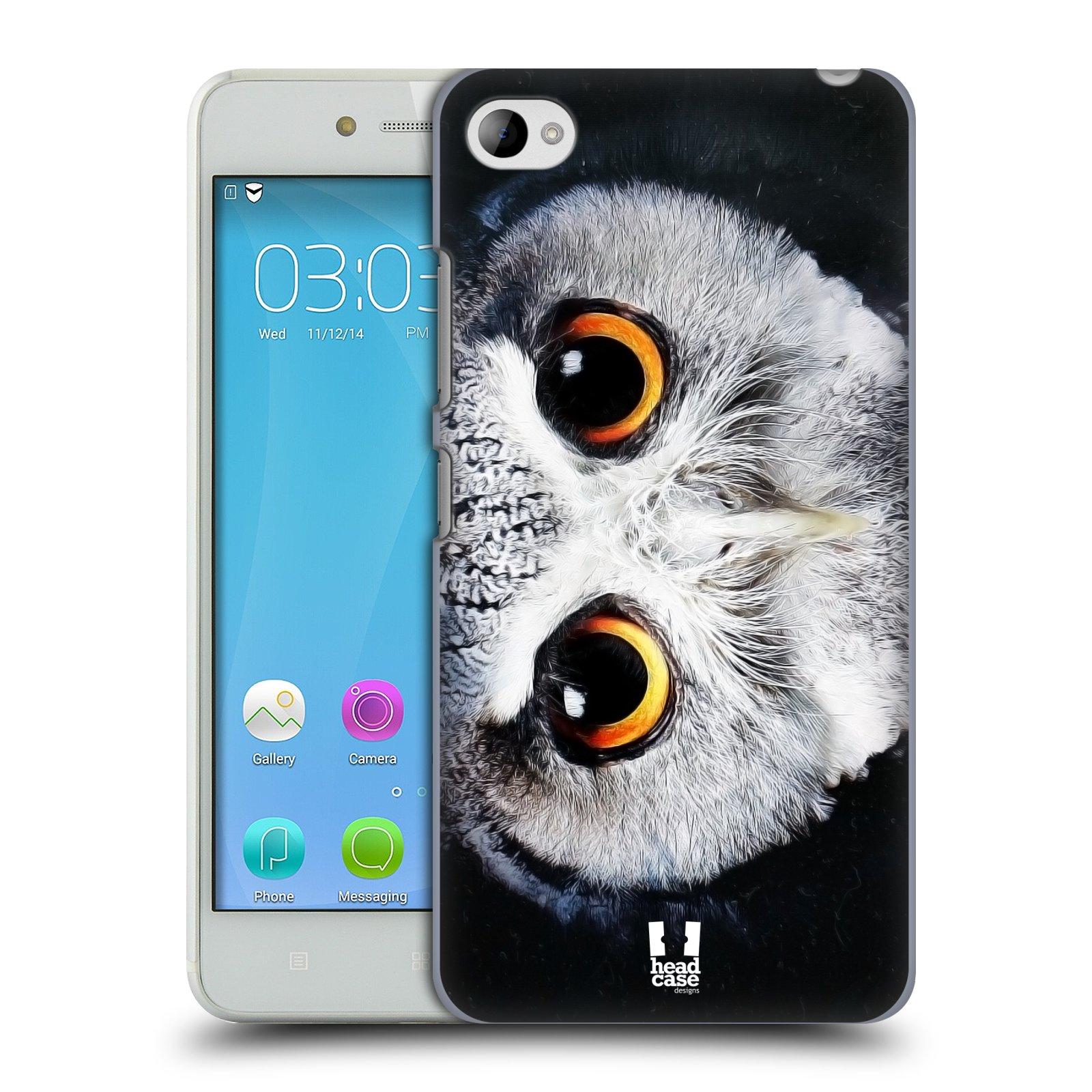 HEAD CASE pevný plastový obal na mobil LENOVO S90 vzor Zvířecí tváře sova