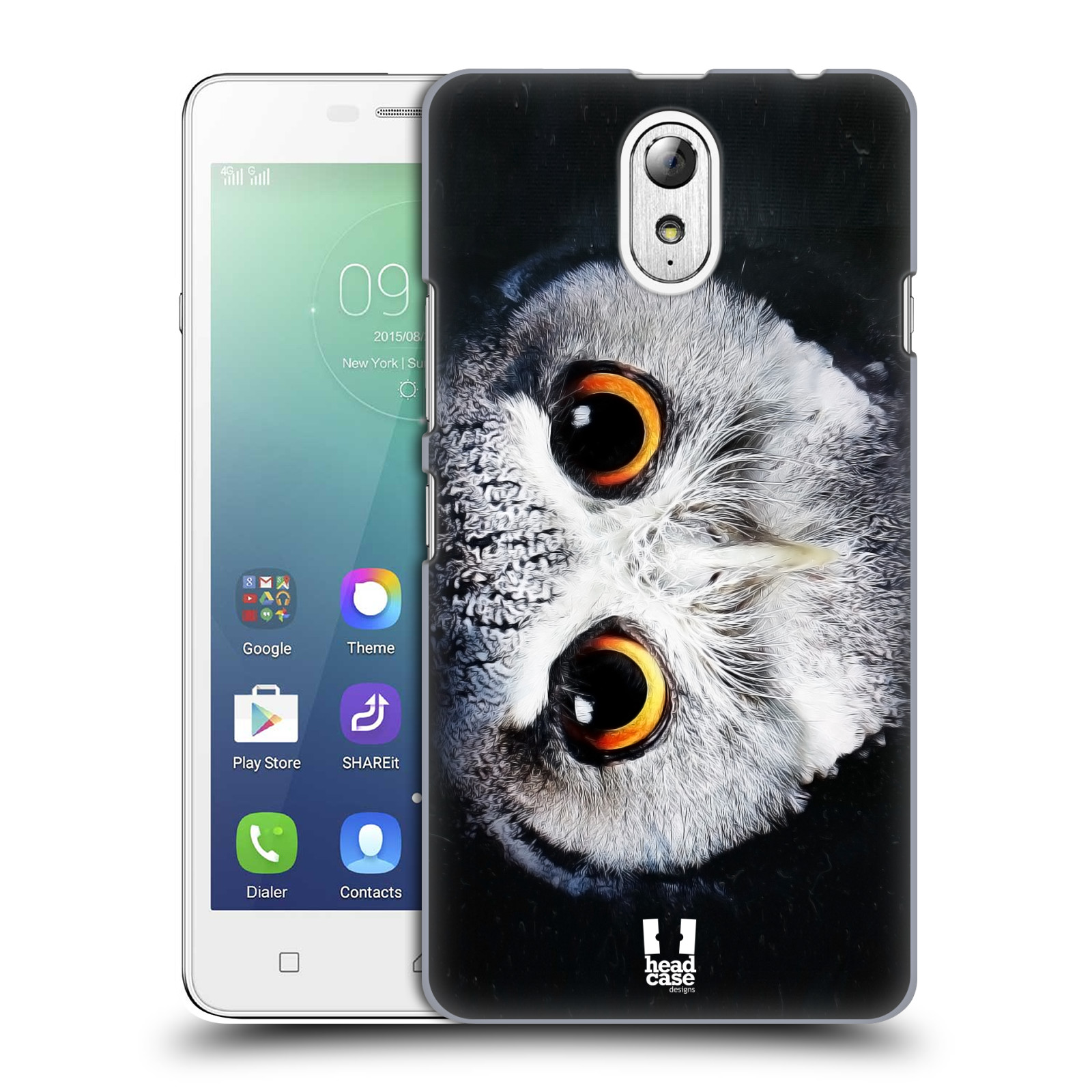 HEAD CASE pevný plastový obal na mobil LENOVO VIBE P1m / LENOVO VIBE p1m DUAL SIM vzor Zvířecí tváře sova