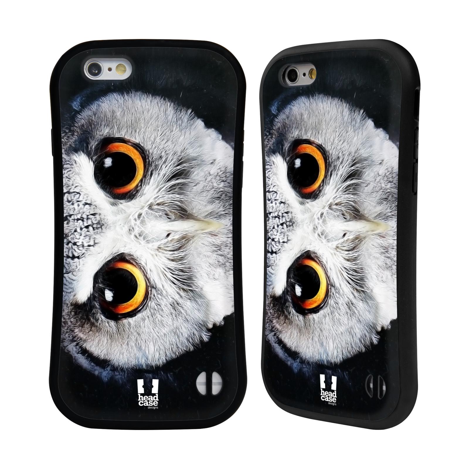 HEAD CASE silikon/plast odolný obal na mobil Apple Iphone 6/6S vzor Zvířecí tváře sova