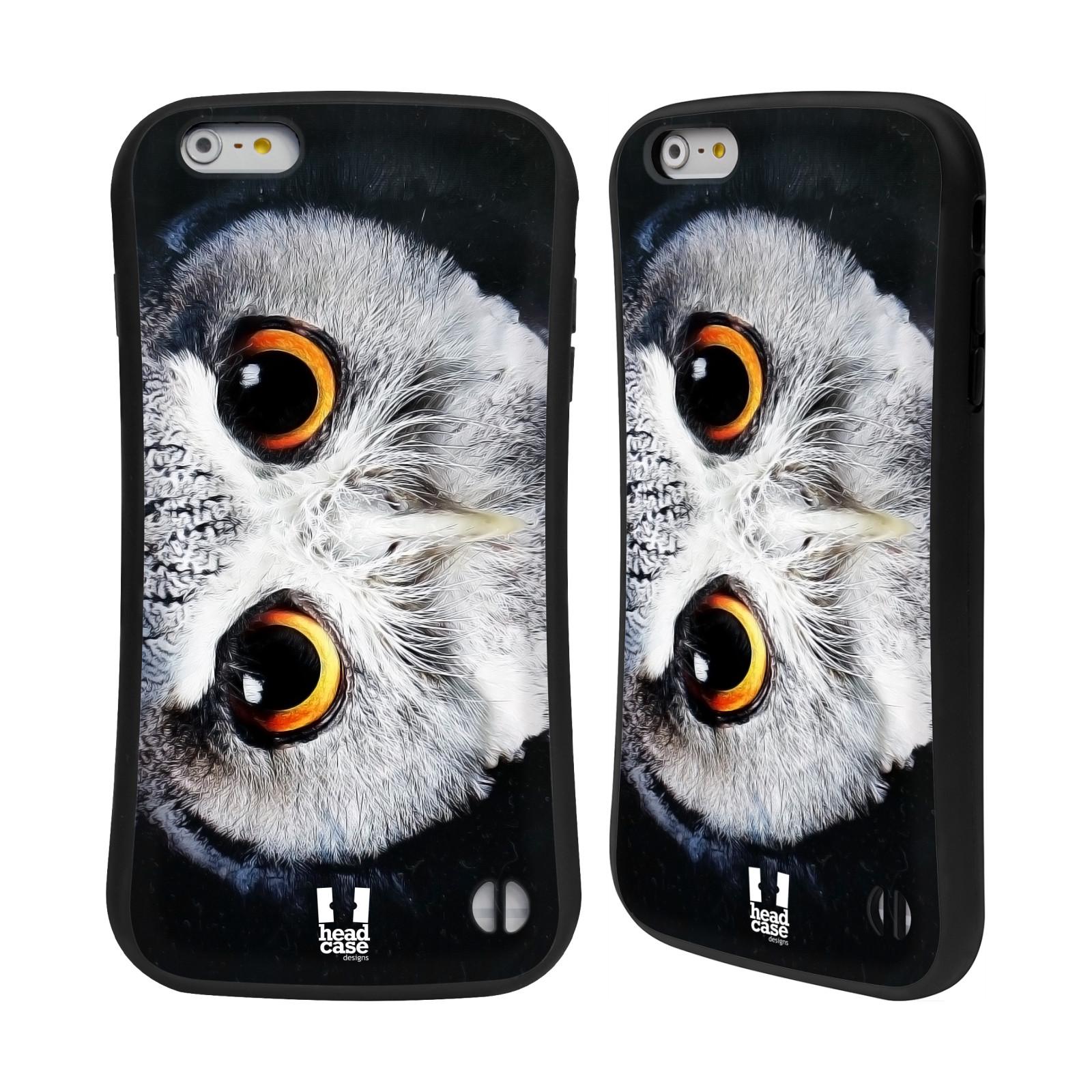 HEAD CASE silikon/plast odolný obal na mobil Apple Iphone 6 PLUS / 6S PLUS vzor Zvířecí tváře sova
