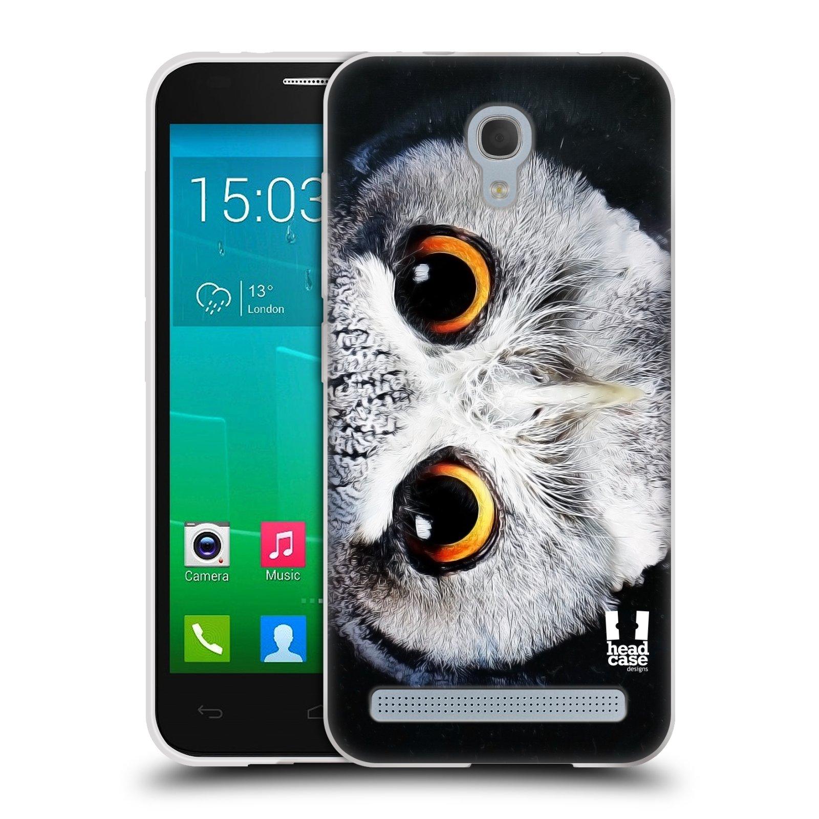 HEAD CASE silikonový obal na mobil Alcatel Idol 2 MINI S 6036Y vzor Zvířecí tváře sova