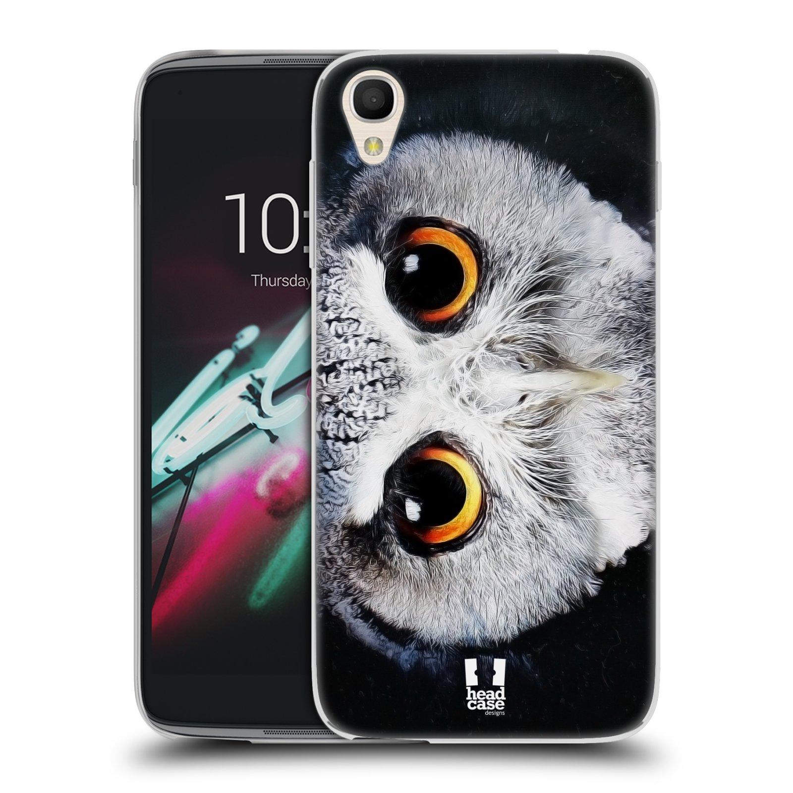 HEAD CASE silikonový obal na mobil Alcatel Idol 3 OT-6039Y (4.7) vzor Zvířecí tváře sova