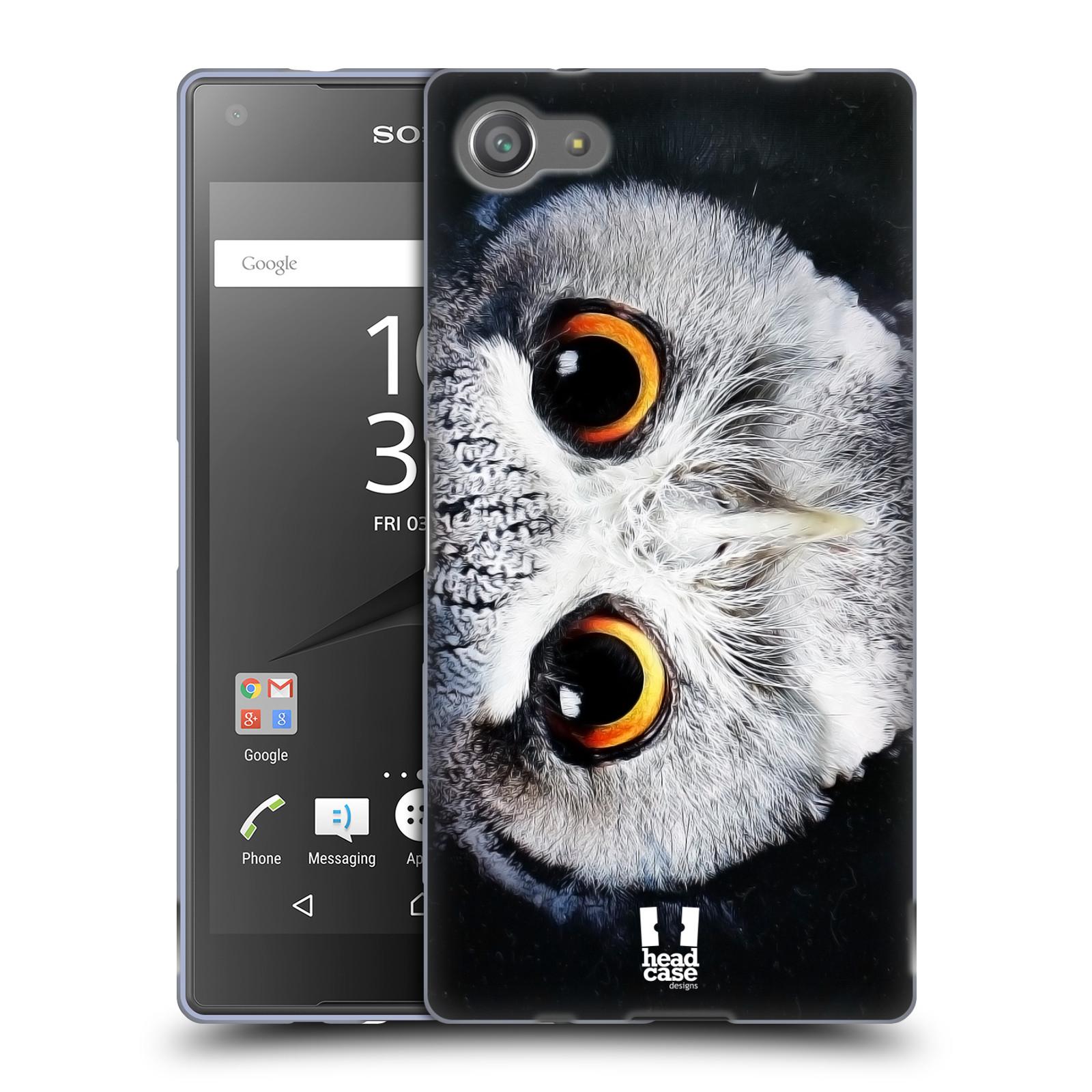 HEAD CASE silikonový obal na mobil Sony Xperia Z5 COMPACT vzor Zvířecí tváře sova