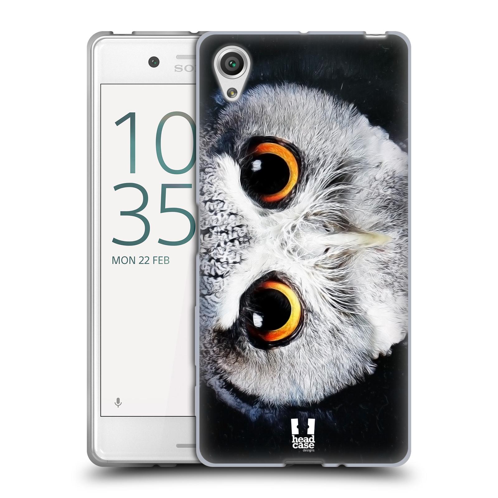 HEAD CASE silikonový obal na mobil Sony Xperia X / X DUAL vzor Zvířecí tváře sova