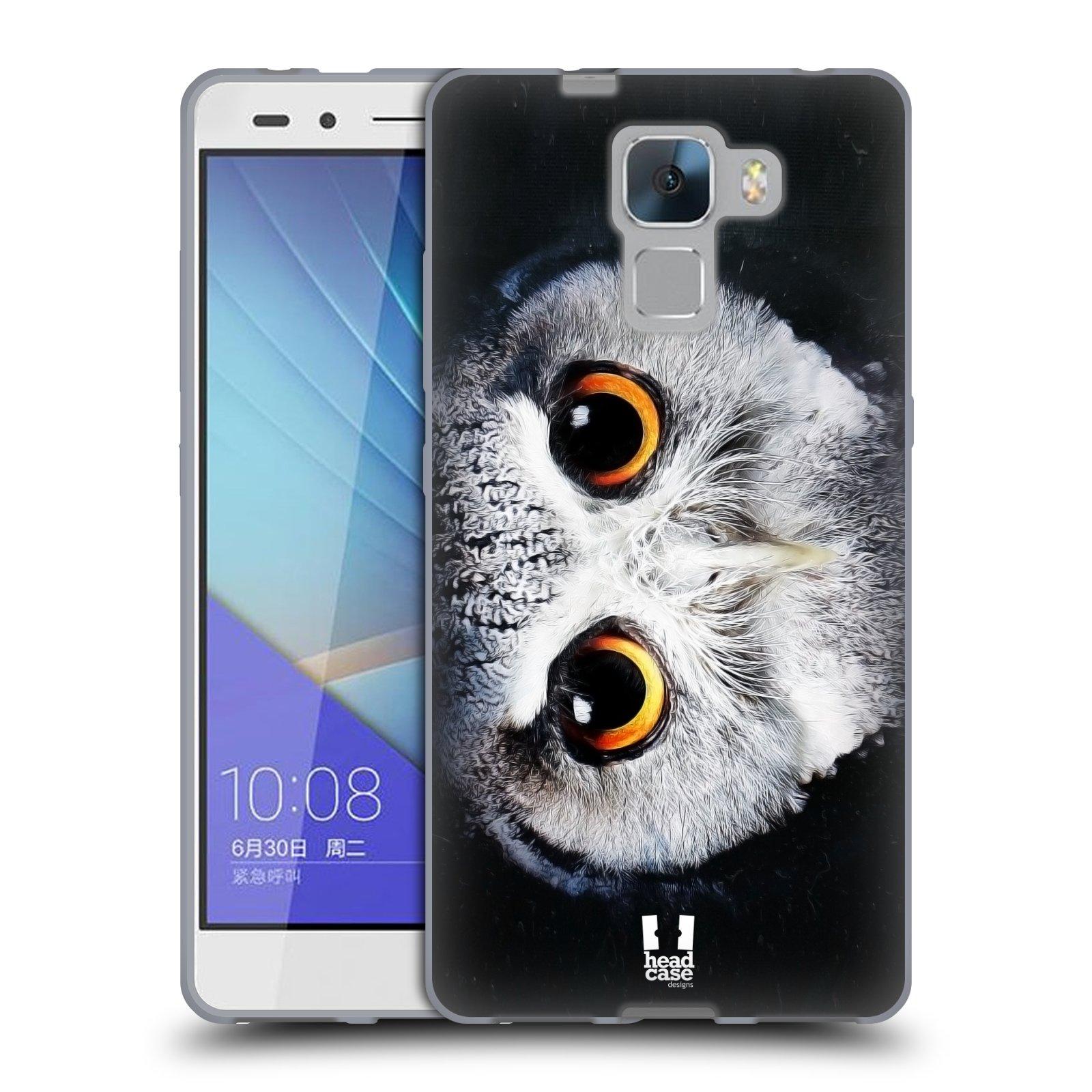 HEAD CASE silikonový obal na mobil HUAWEI HONOR 7 vzor Zvířecí tváře sova