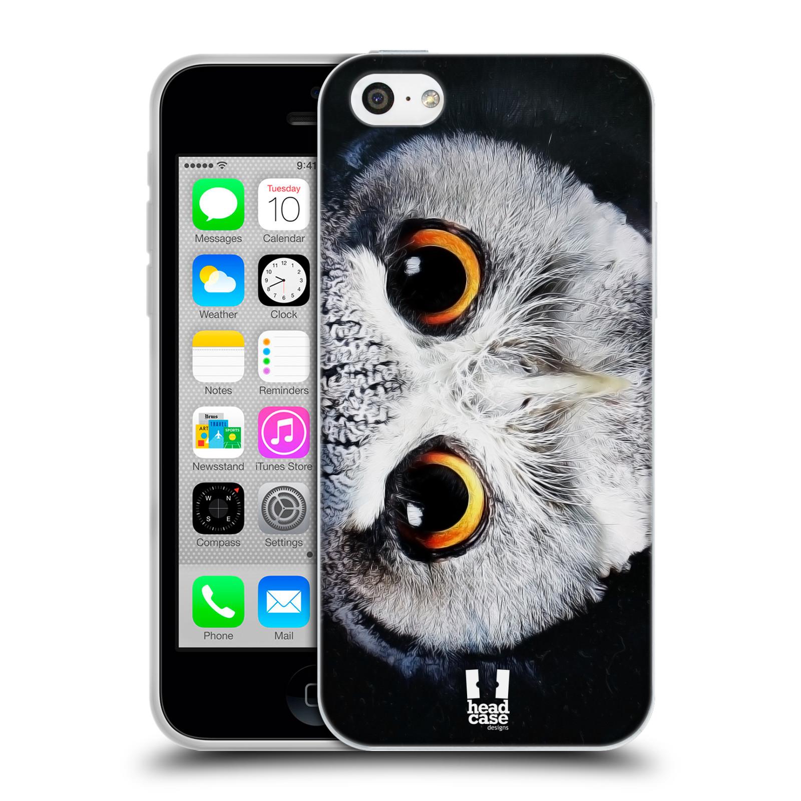 HEAD CASE silikonový obal na mobil Apple Iphone 5C vzor Zvířecí tváře sova