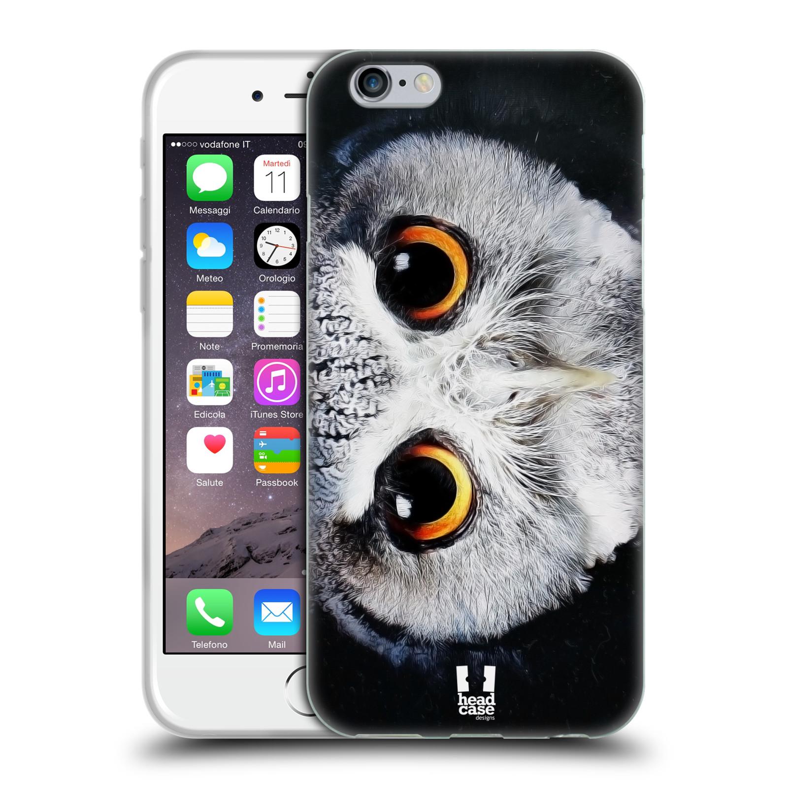HEAD CASE silikonový obal na mobil Apple Iphone 6/6S vzor Zvířecí tváře sova