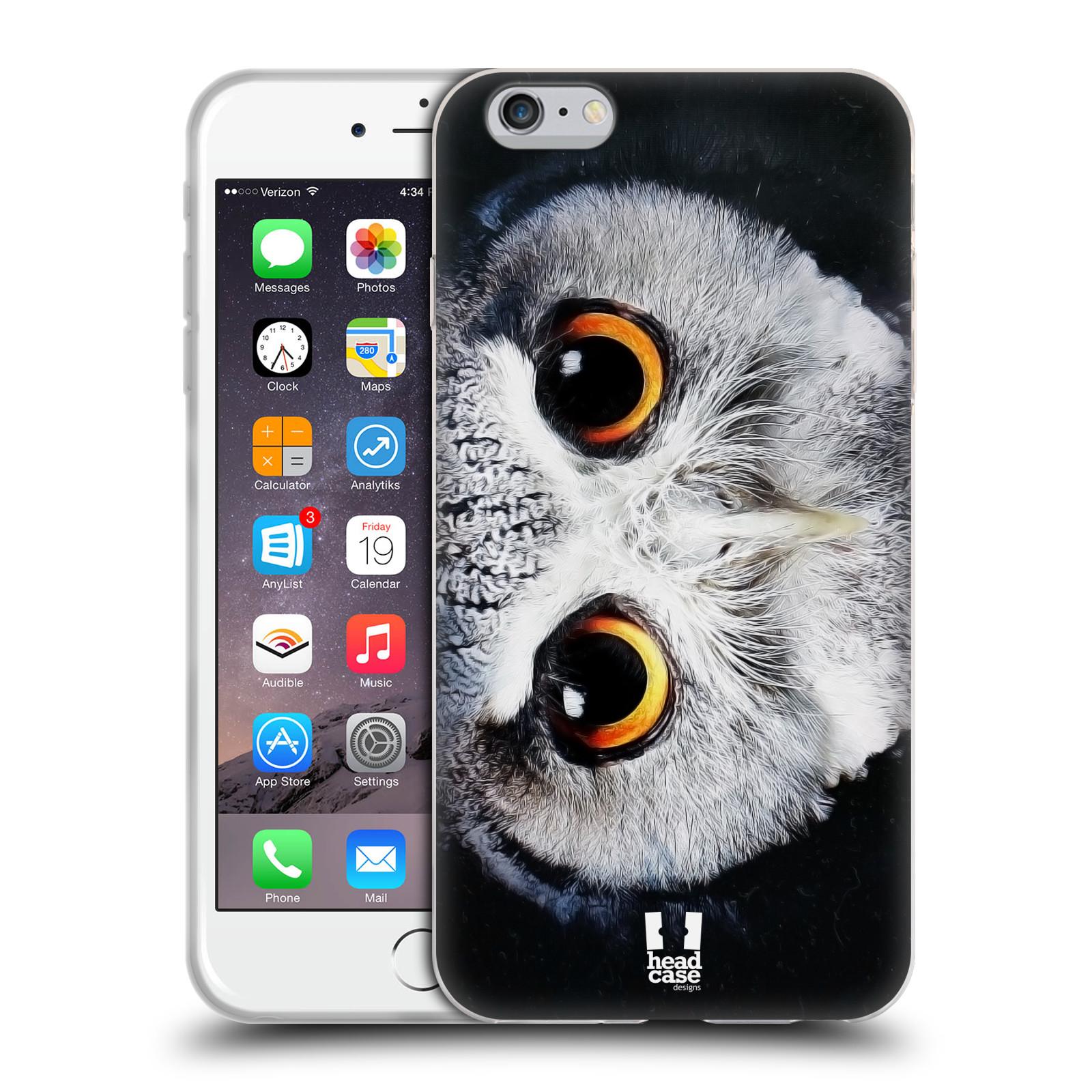 HEAD CASE silikonový obal na mobil Apple Iphone 6 PLUS/ 6S PLUS vzor Zvířecí tváře sova