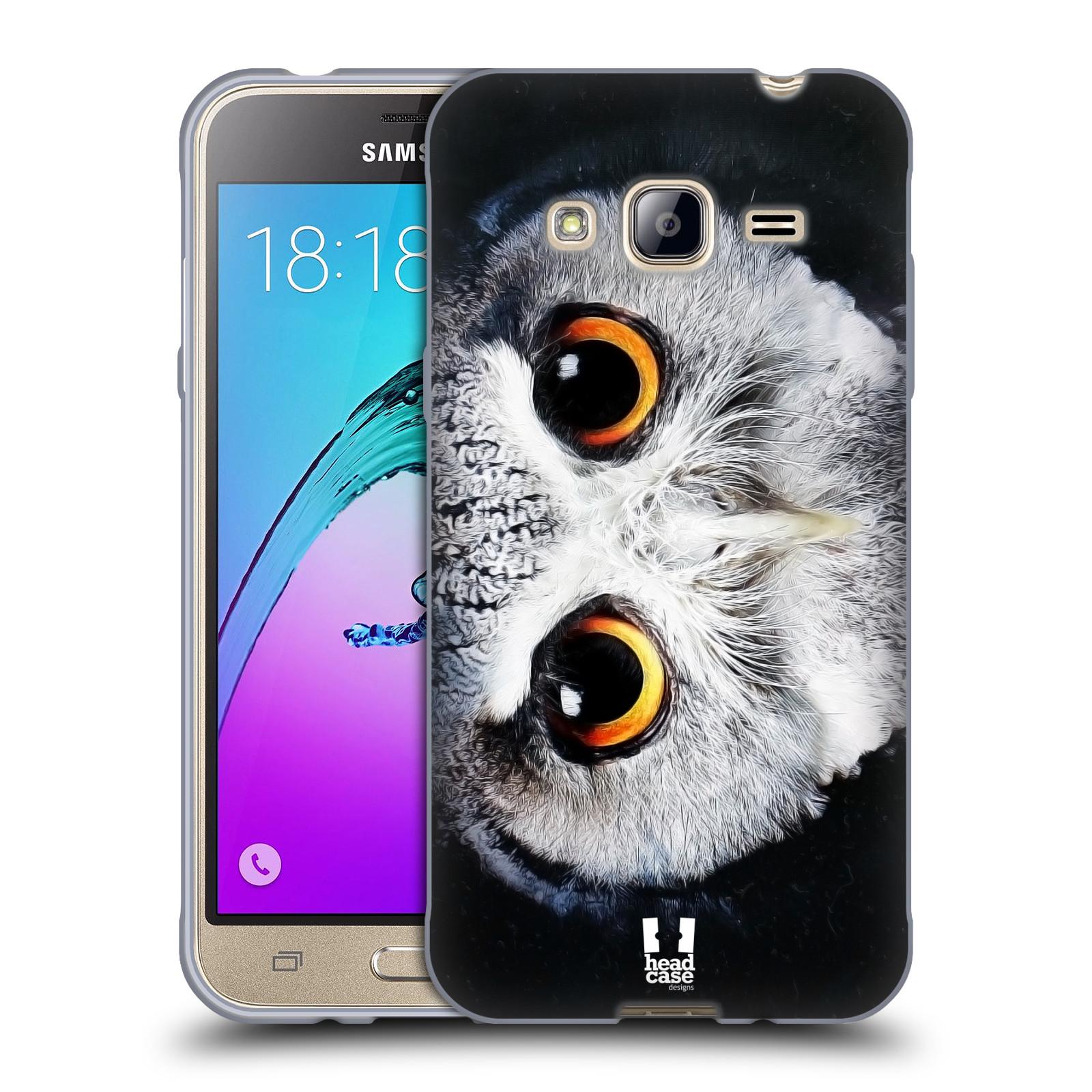 HEAD CASE silikonový obal na mobil Samsung Galaxy J3, J3 2016 vzor Zvířecí tváře sova