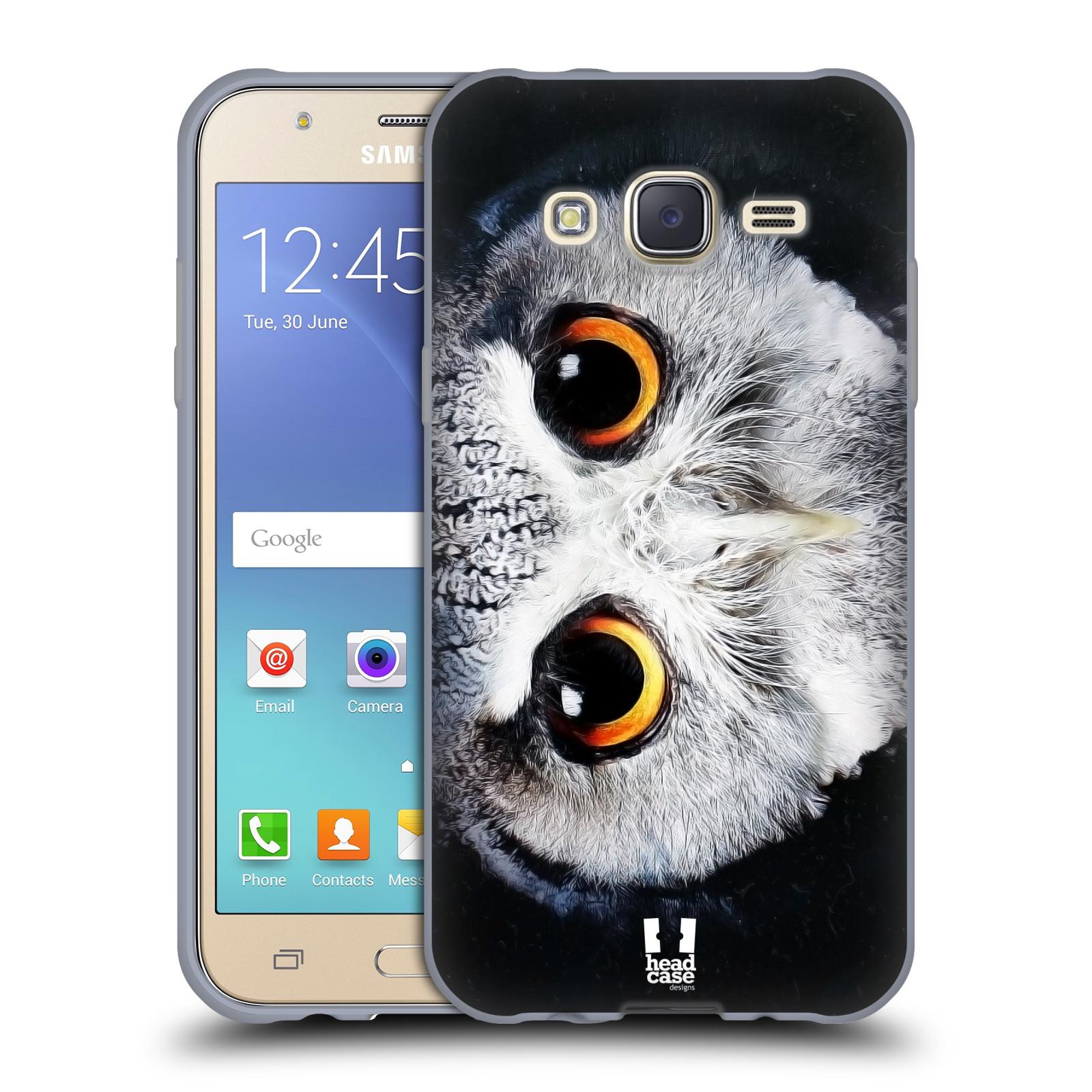 HEAD CASE silikonový obal na mobil Samsung Galaxy J5, J500, (J5 DUOS) vzor Zvířecí tváře sova