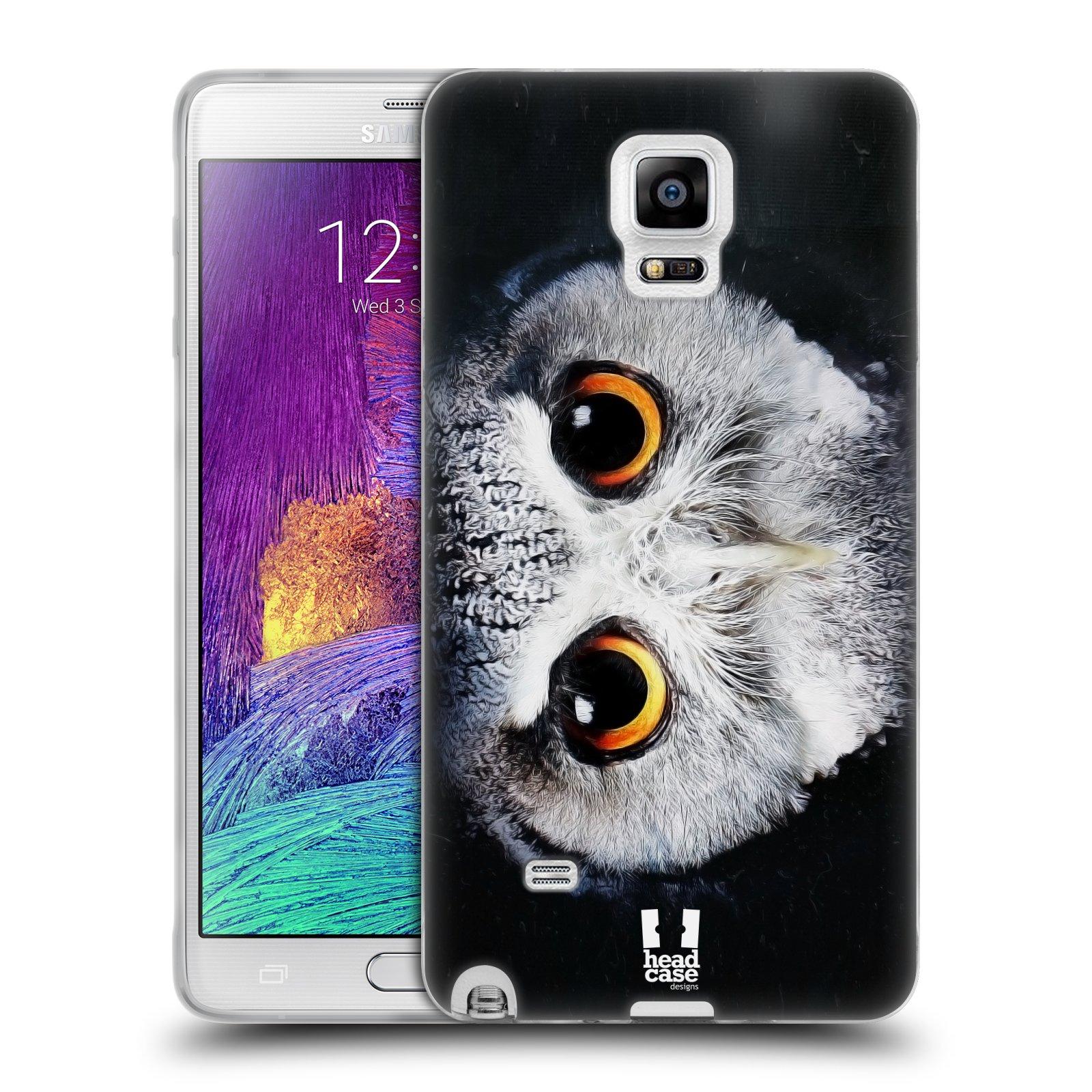 HEAD CASE silikonový obal na mobil Samsung Galaxy Note 4 (N910) vzor Zvířecí tváře sova