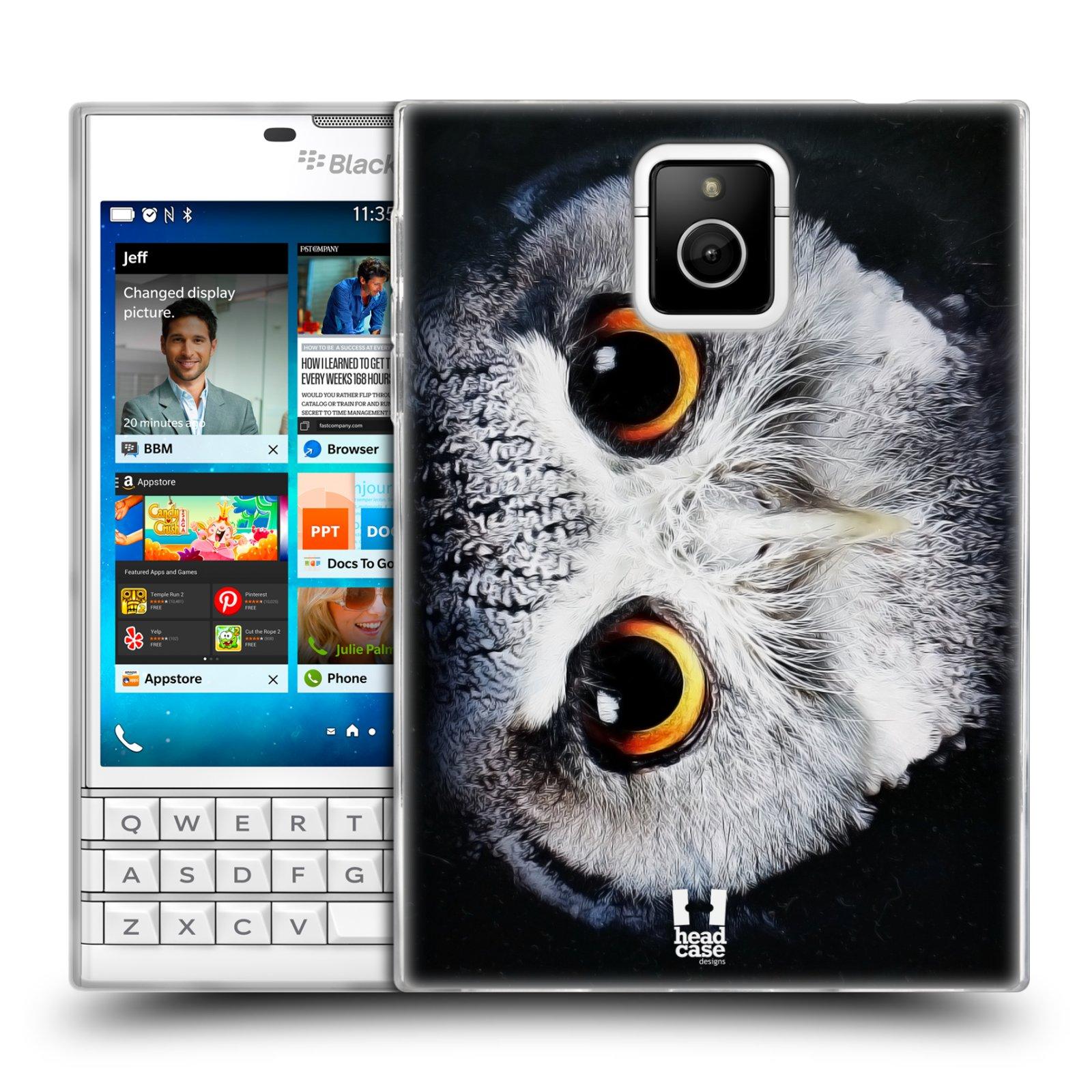 HEAD CASE silikonový obal na mobil Blackberry PASSPORT vzor Zvířecí tváře sova