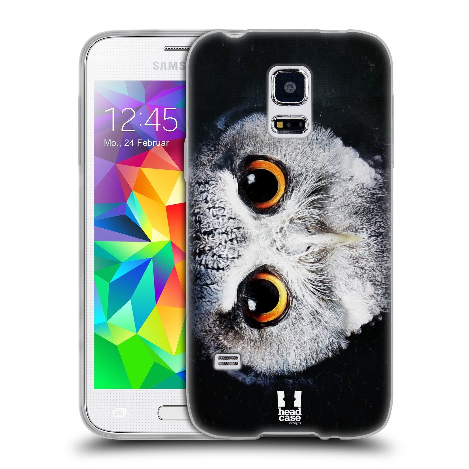 HEAD CASE silikonový obal na mobil Samsung Galaxy S5 MINI vzor Zvířecí tváře sova