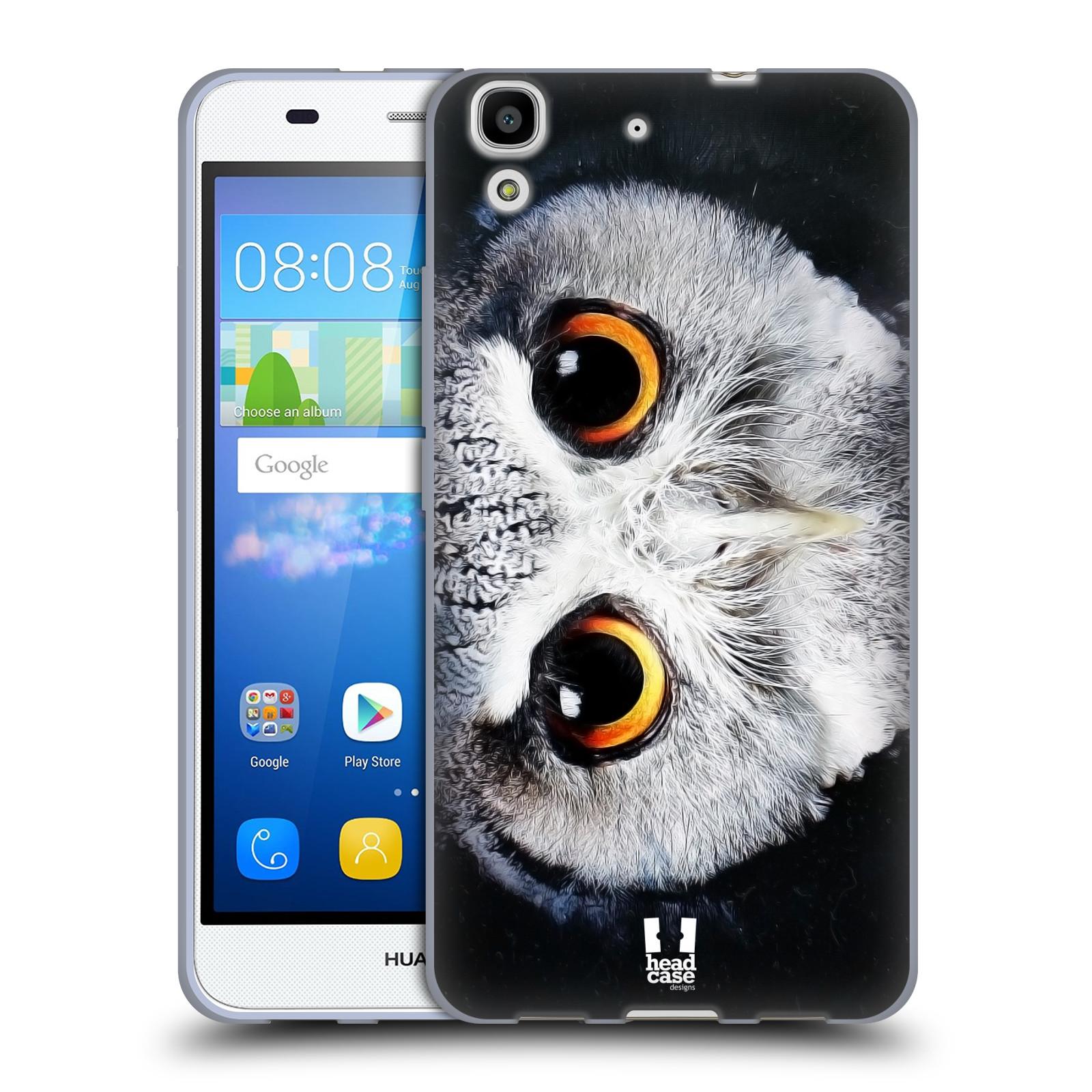 HEAD CASE silikonový obal na mobil HUAWEI Y6 vzor Zvířecí tváře sova