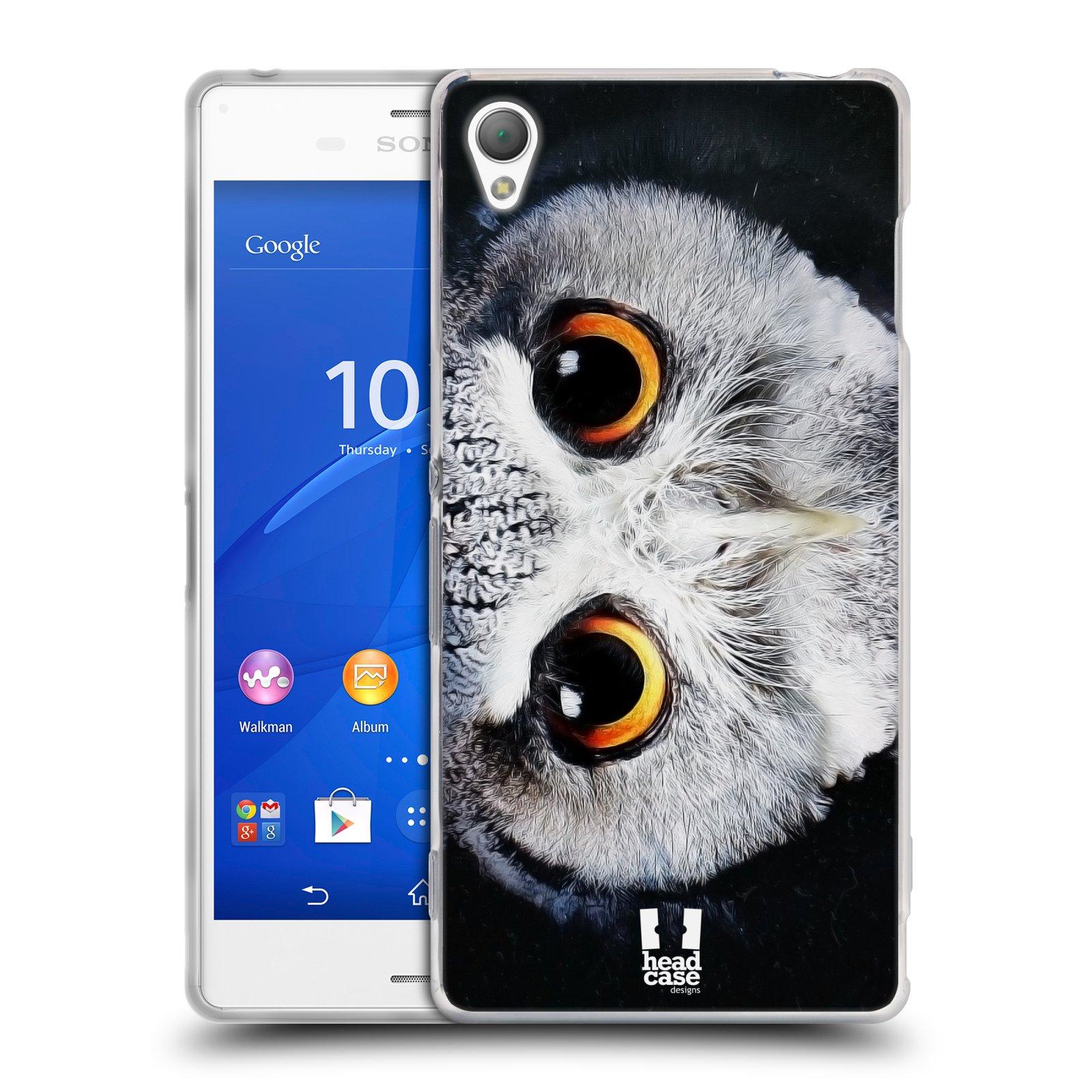HEAD CASE silikonový obal na mobil Sony Xperia Z3 vzor Zvířecí tváře sova