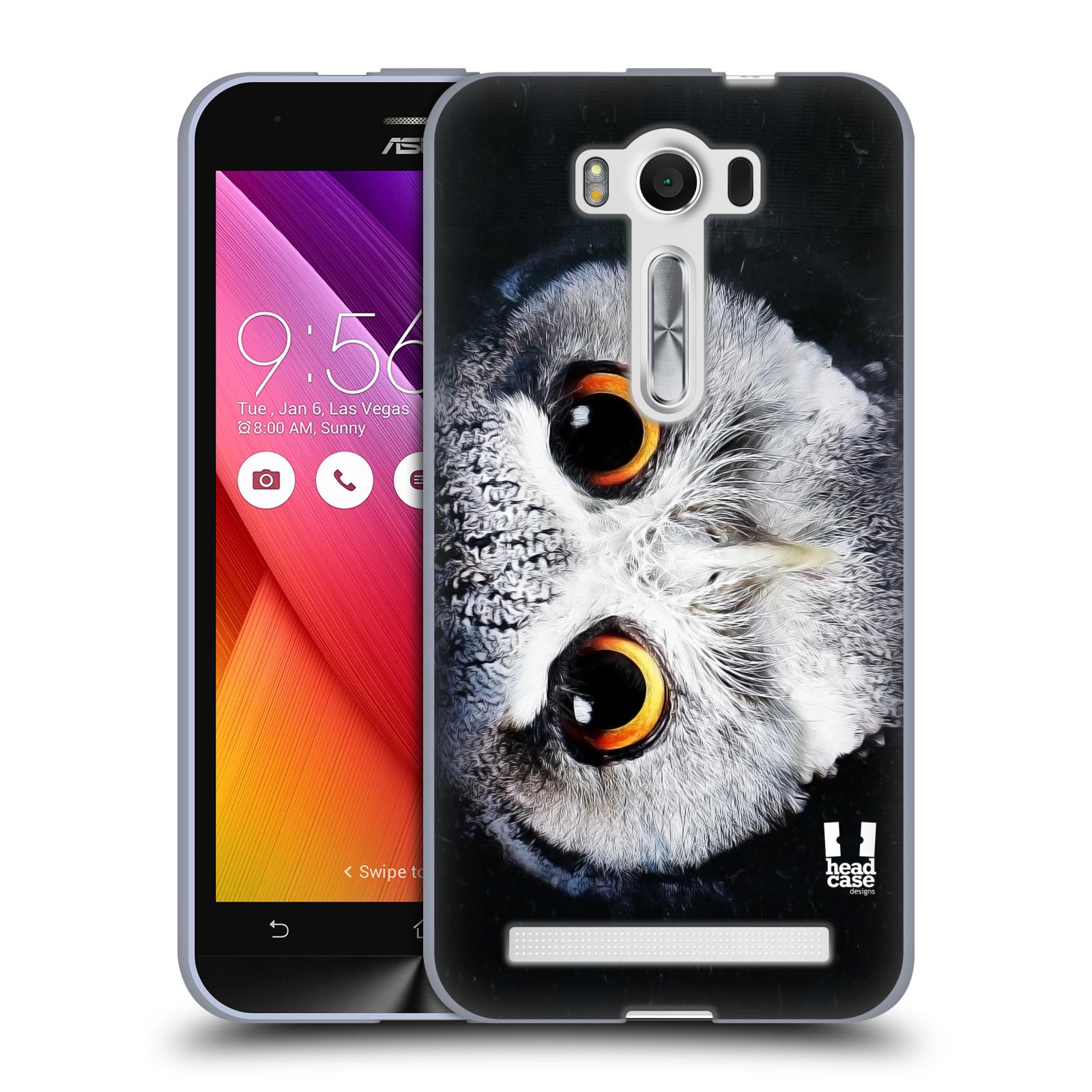 """HEAD CASE silikonový obal na mobil Asus Zenfone 2 LASER (ZE500KL s 5"""" displejem) vzor Zvířecí tváře sova"""