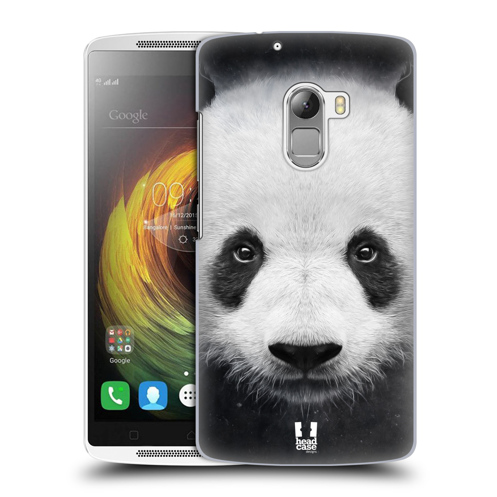 HEAD CASE pevný plastový obal na mobil LENOVO A7010 / A7010 DUAL / K4 Note / Vibe X3 lite vzor Zvířecí tváře medvěd panda