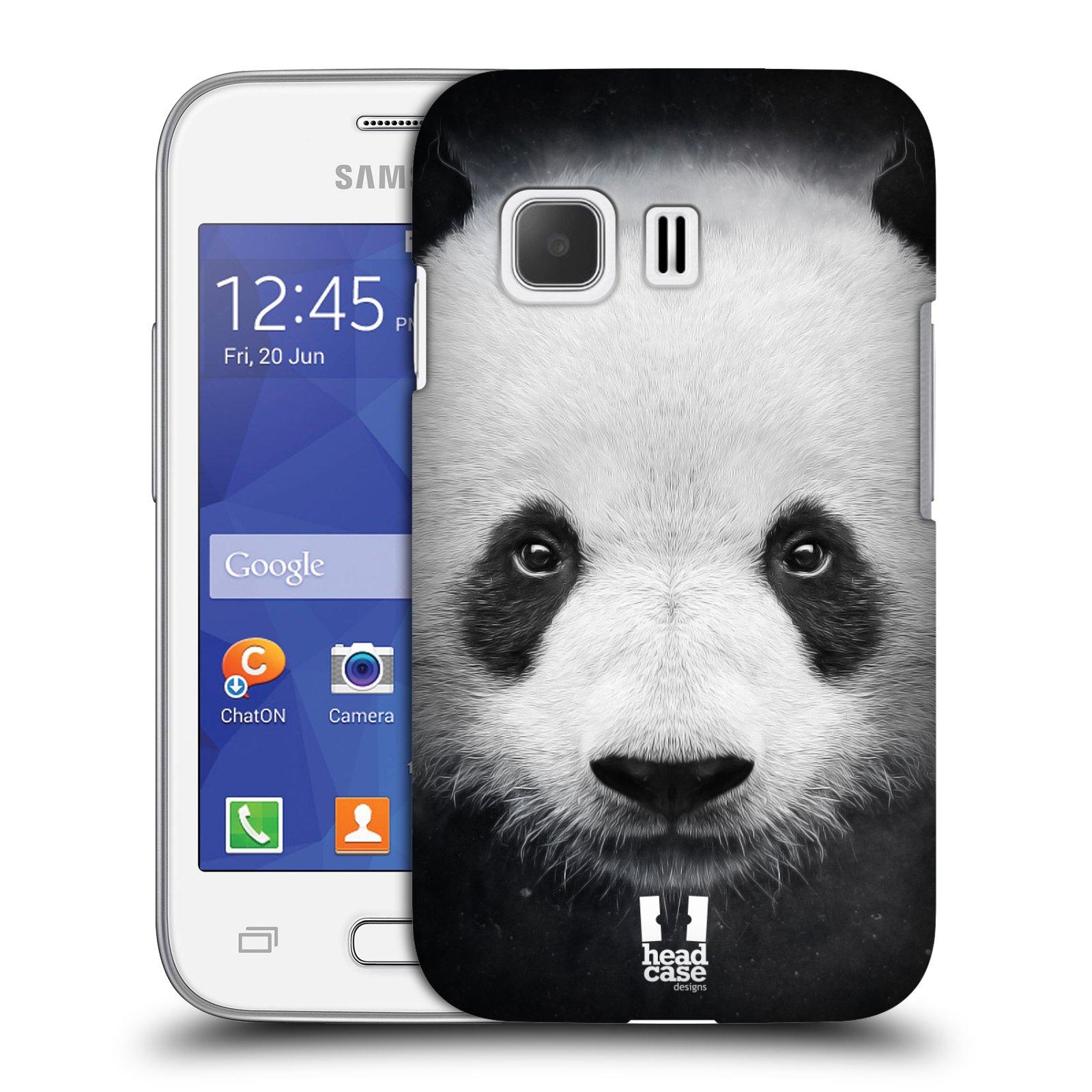 HEAD CASE plastový obal na mobil SAMSUNG Galaxy Young 2 (G130) vzor Zvířecí tváře medvěd panda