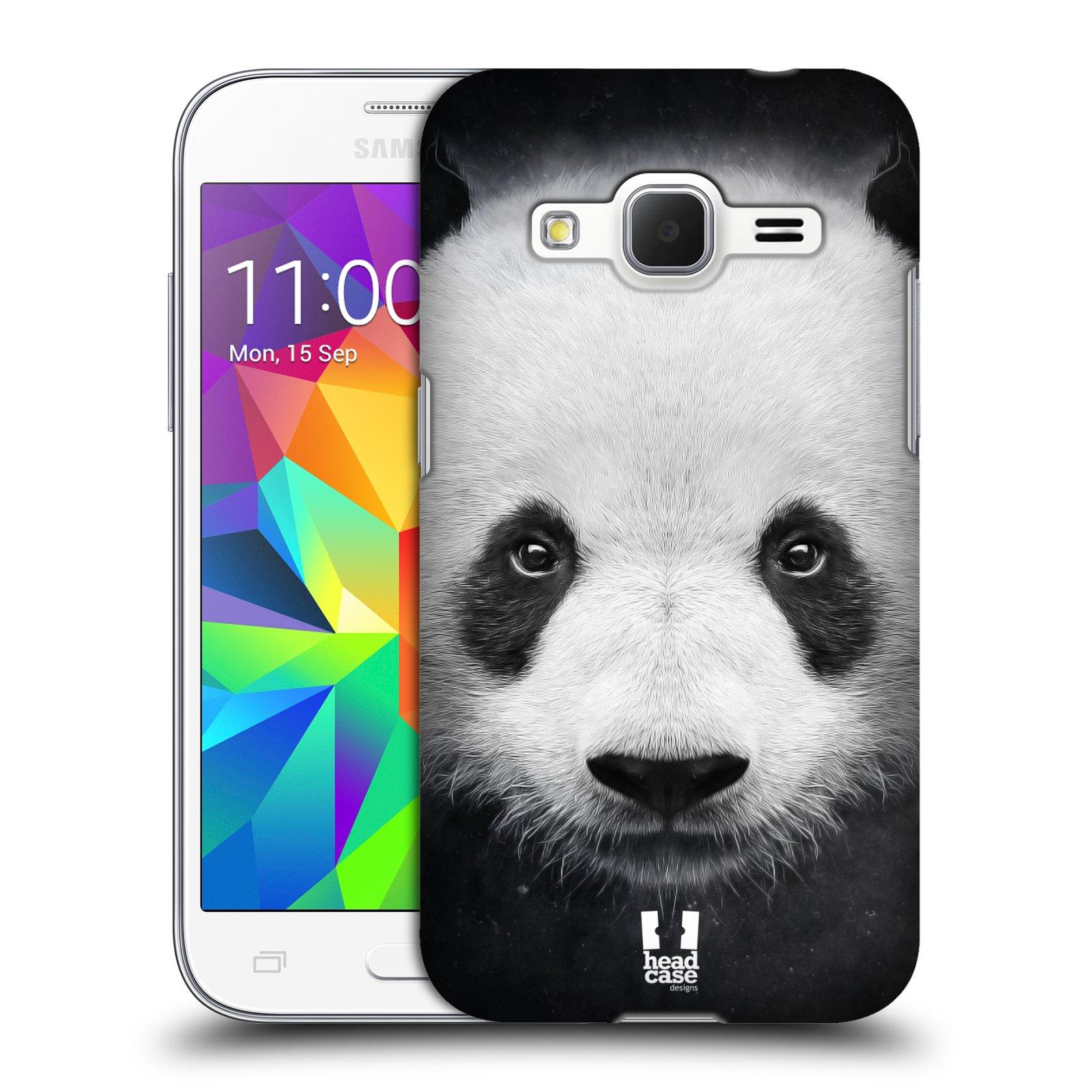 HEAD CASE plastový obal na mobil SAMSUNG GALAXY Core Prime (Core Prime VE) vzor Zvířecí tváře medvěd panda