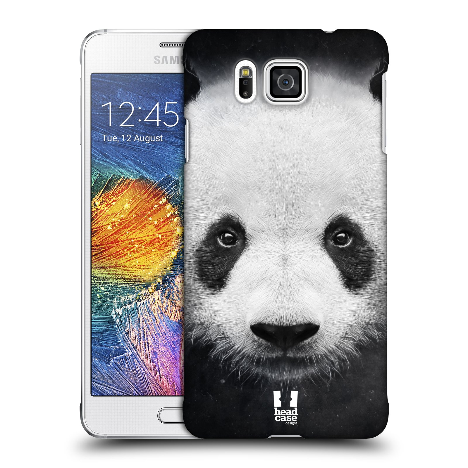HEAD CASE plastový obal na mobil SAMSUNG Galaxy Alpha (G850) vzor Zvířecí tváře medvěd panda