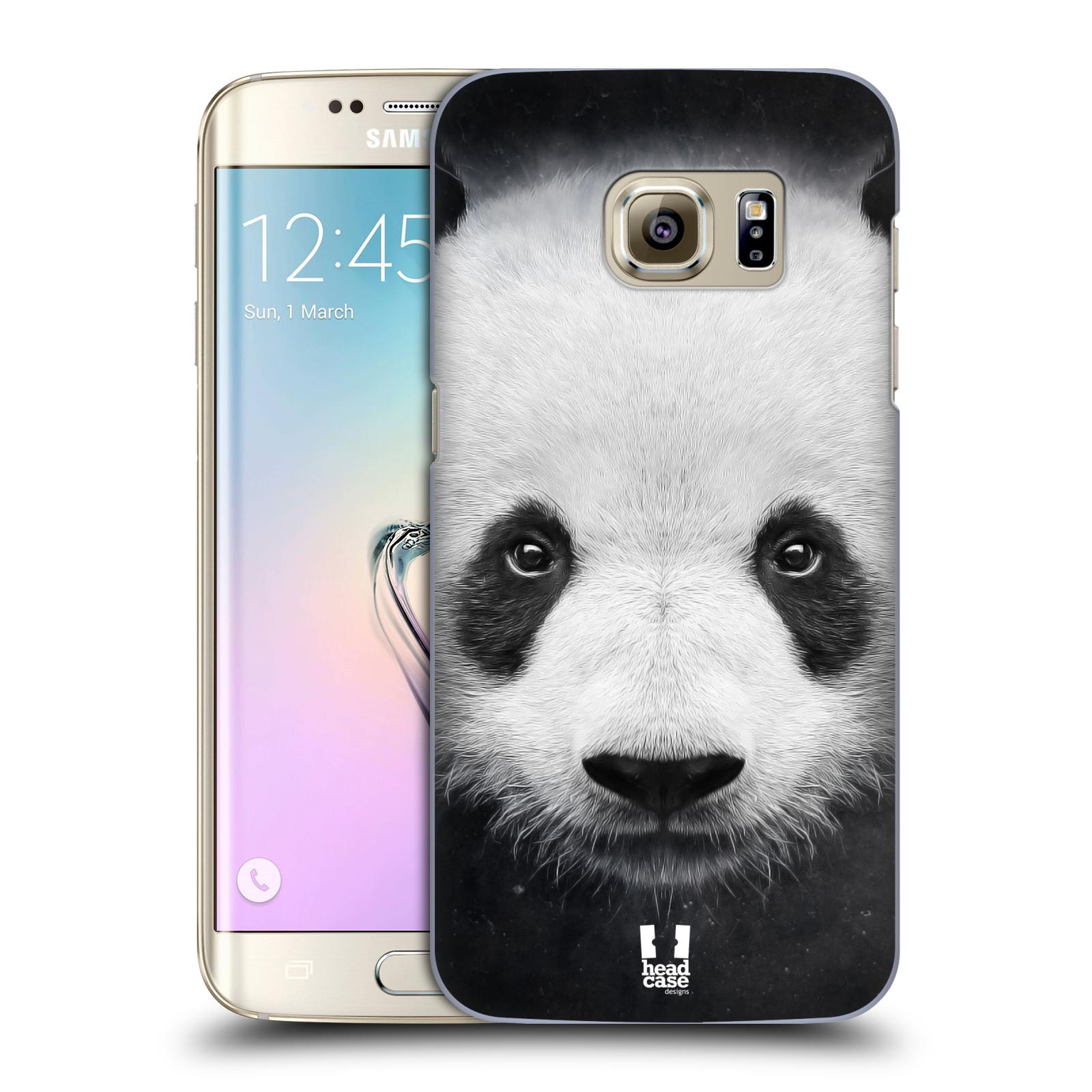 HEAD CASE plastový obal na mobil SAMSUNG GALAXY S7 EDGE vzor Zvířecí tváře medvěd panda