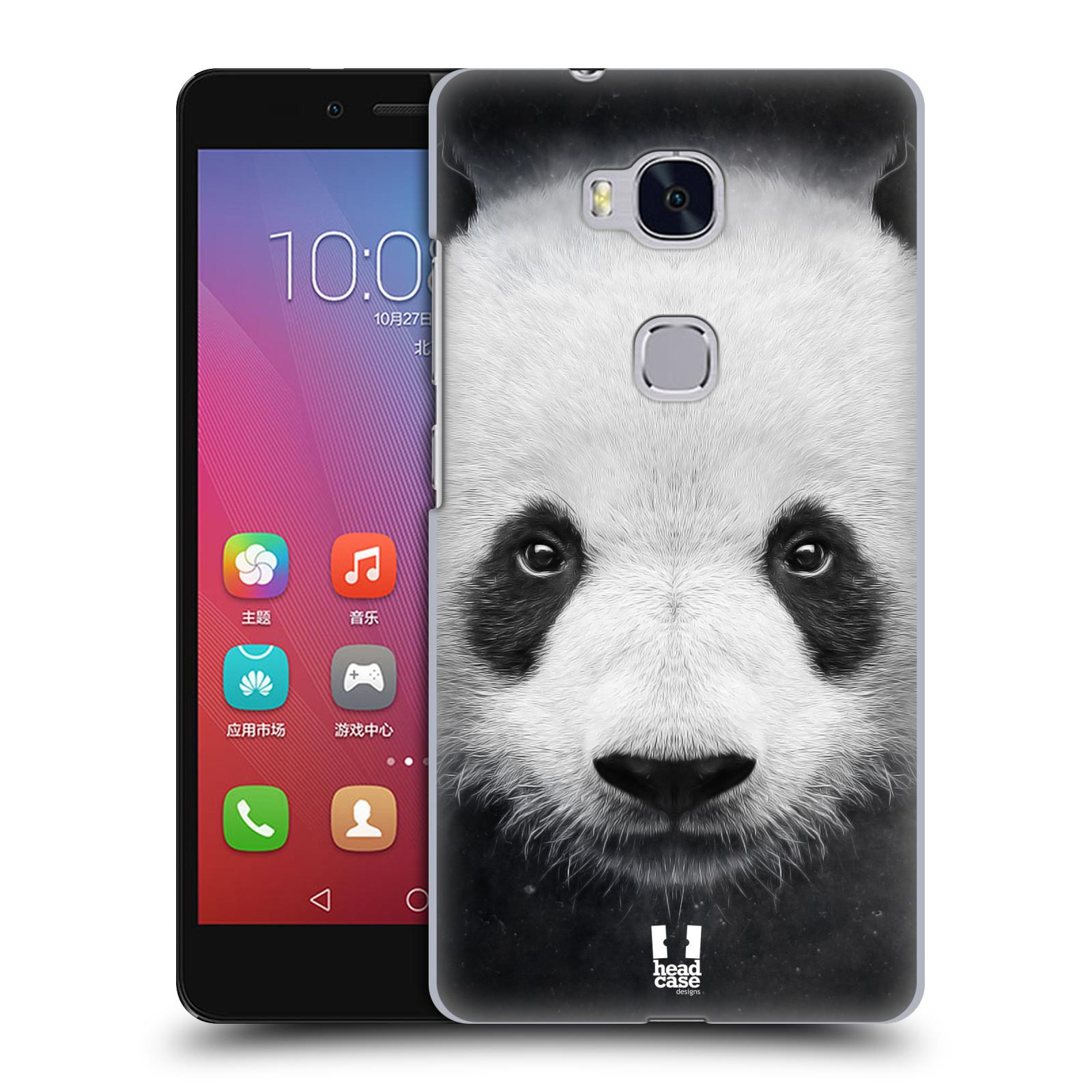 HEAD CASE pevný plastový obal na mobil HUAWEI HONOR 5X vzor Zvířecí tváře medvěd panda