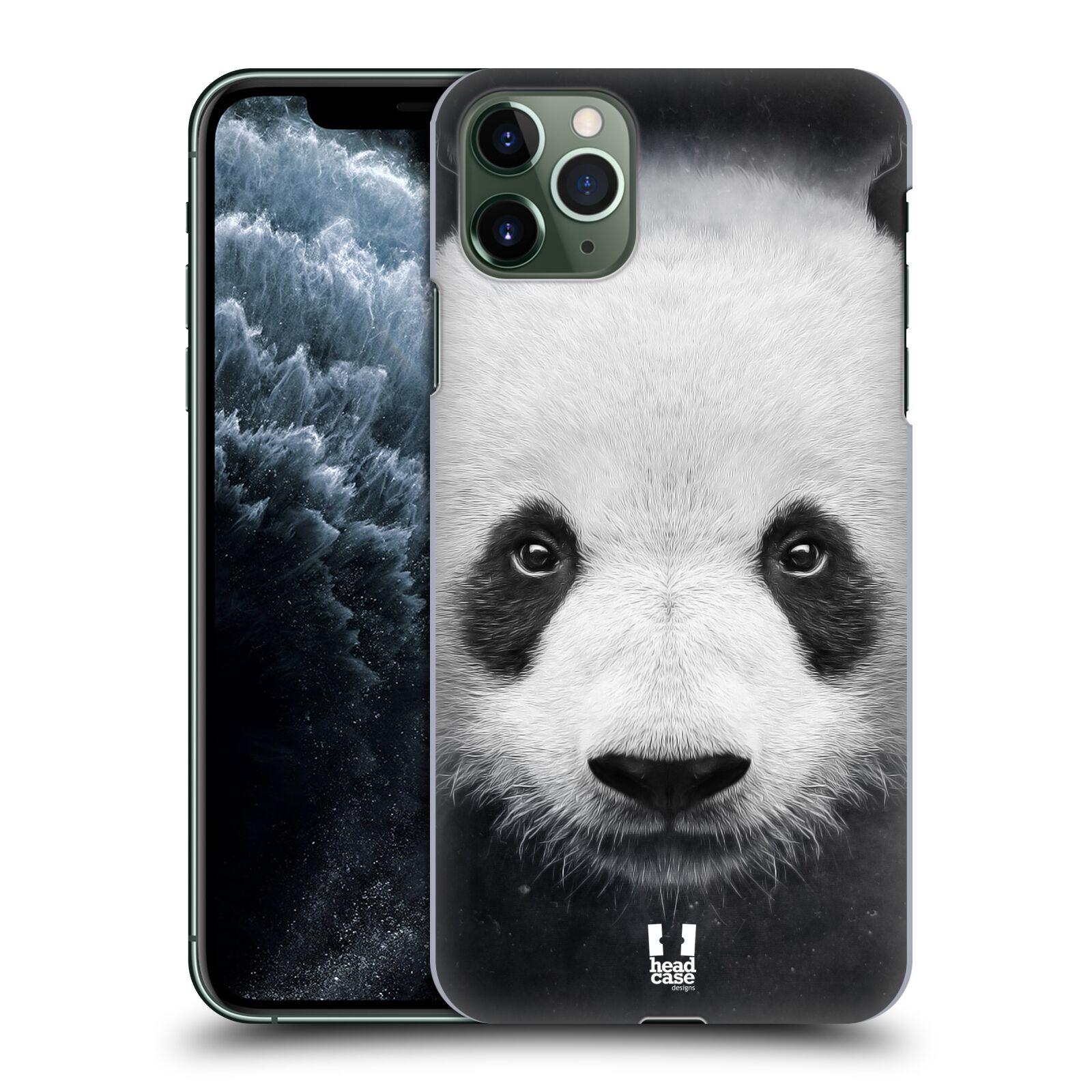 Pouzdro na mobil Apple Iphone 11 PRO MAX - HEAD CASE - vzor Zvířecí tváře medvěd panda