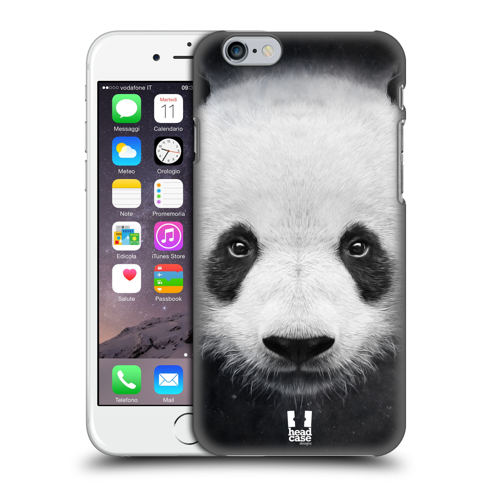 Plastové pouzdro pro mobil Apple Iphone 6/6S vzor Zvířecí tváře medvěd panda
